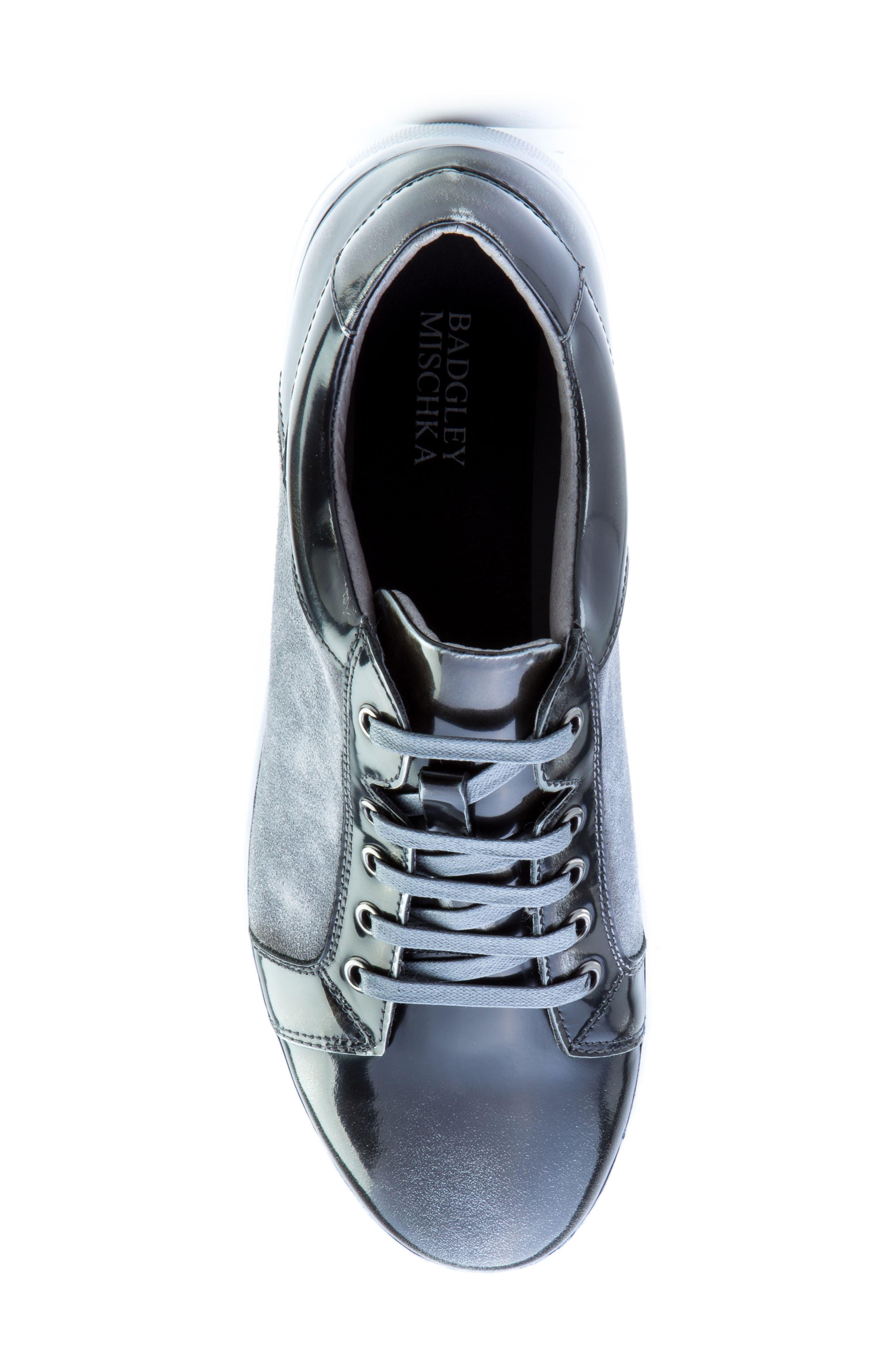 Lockhart Sneaker,                             Alternate thumbnail 5, color,                             BLACK LEATHER