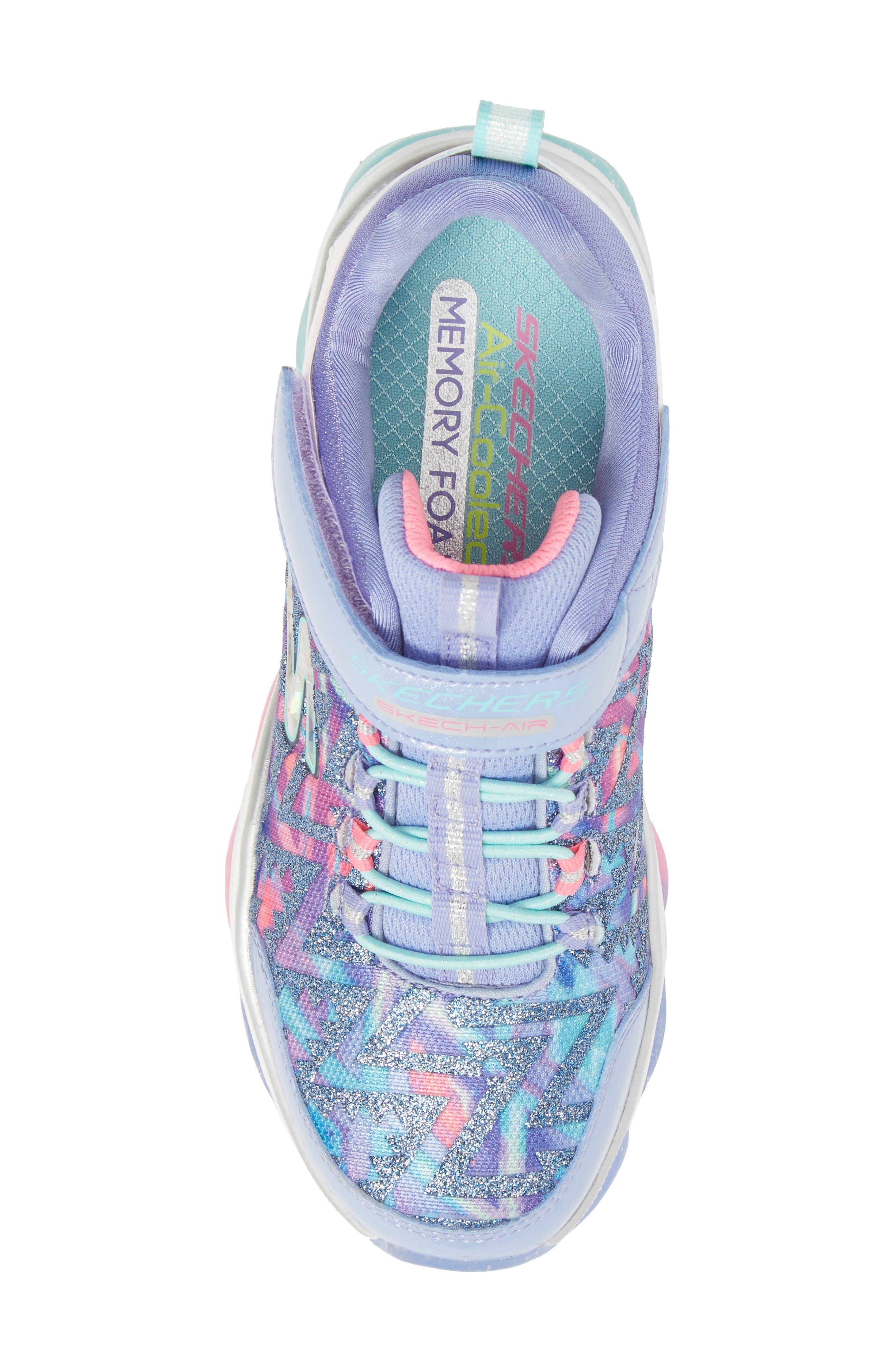 Skech-Air Groove Glitter N Go Sneakers,                             Alternate thumbnail 5, color,                             500