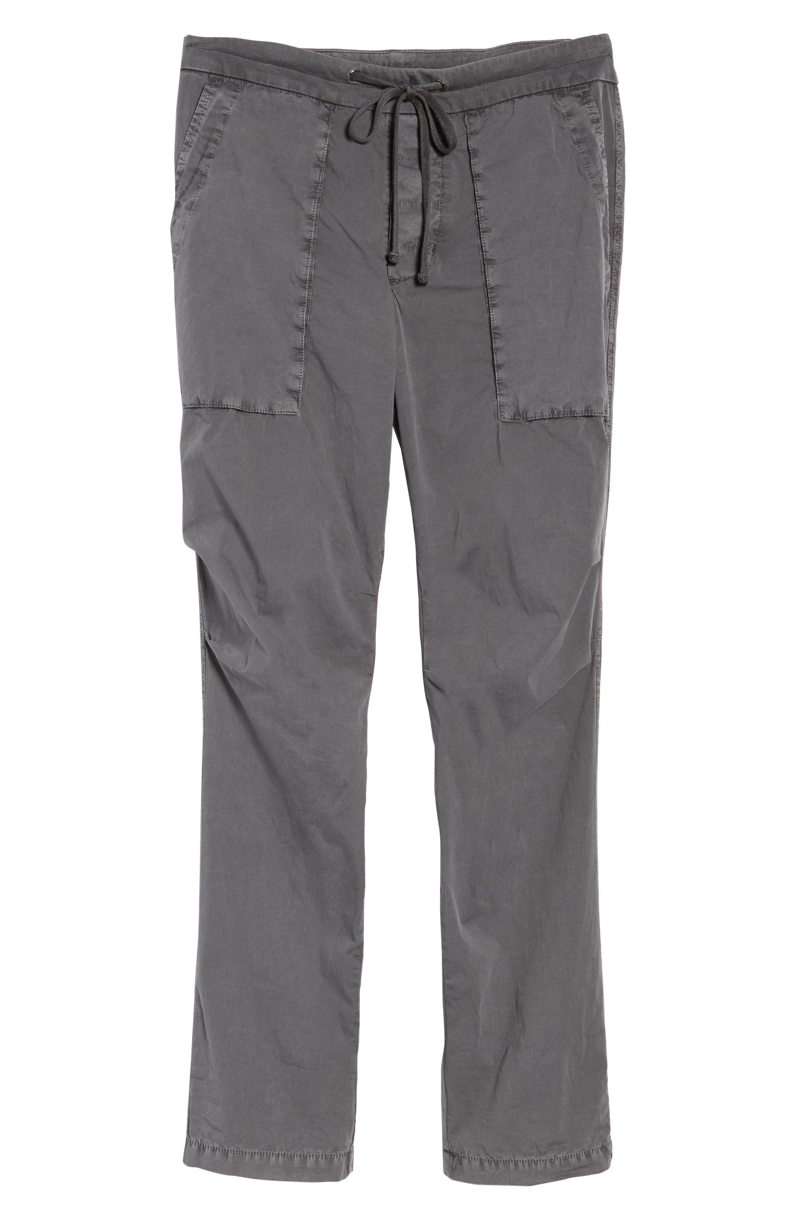 Stretch Poplin Utility Pants,                             Alternate thumbnail 6, color,                             020