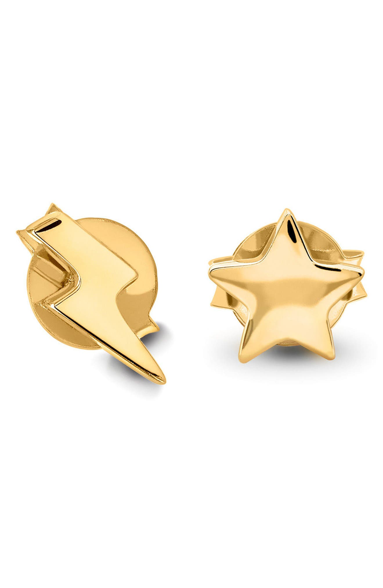 Star & Lightning Stud Earrings,                             Main thumbnail 1, color,