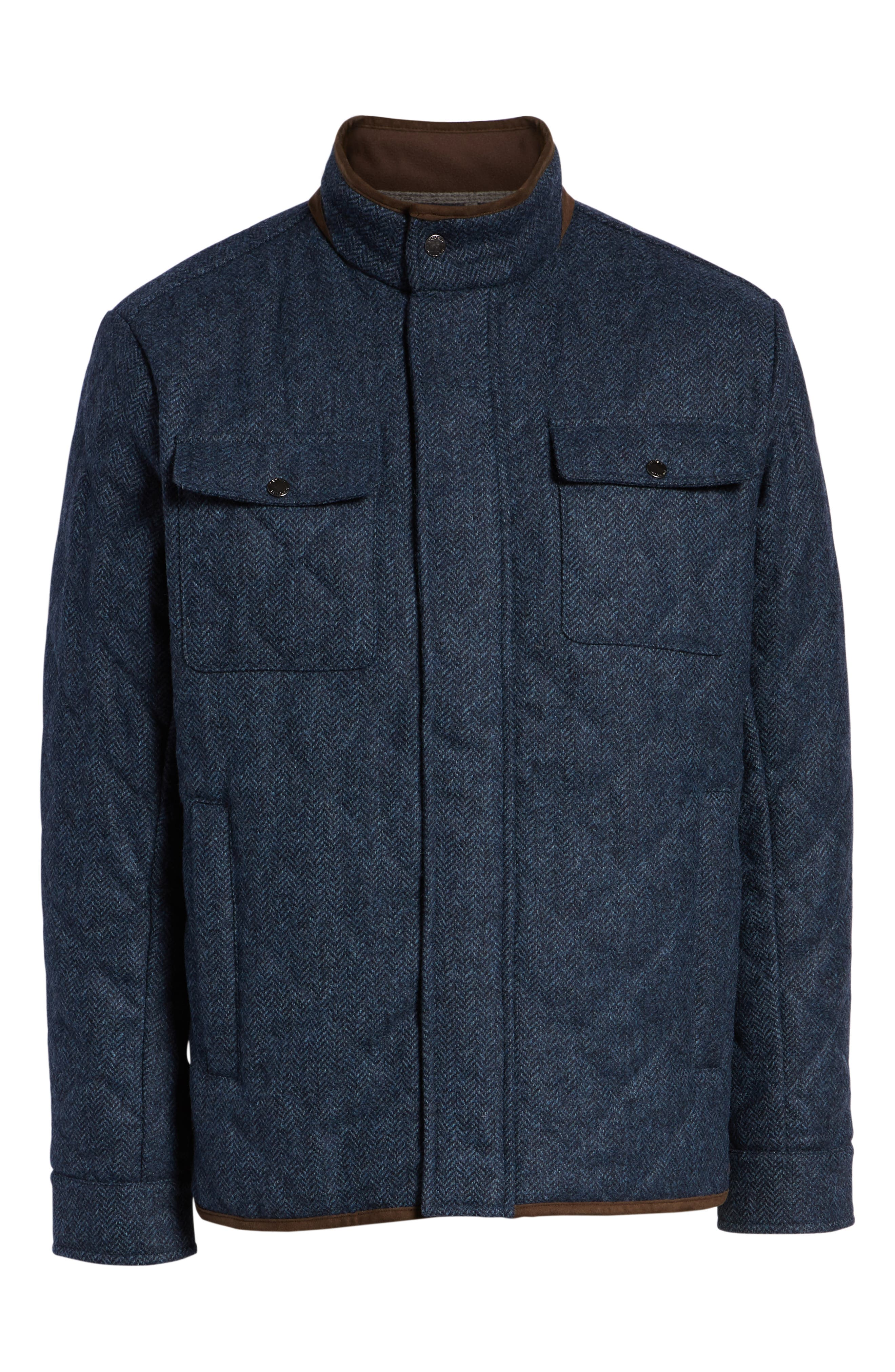 Mountain Quilted Shirt Jacket,                             Alternate thumbnail 6, color,                             ATLANTIC BLUE