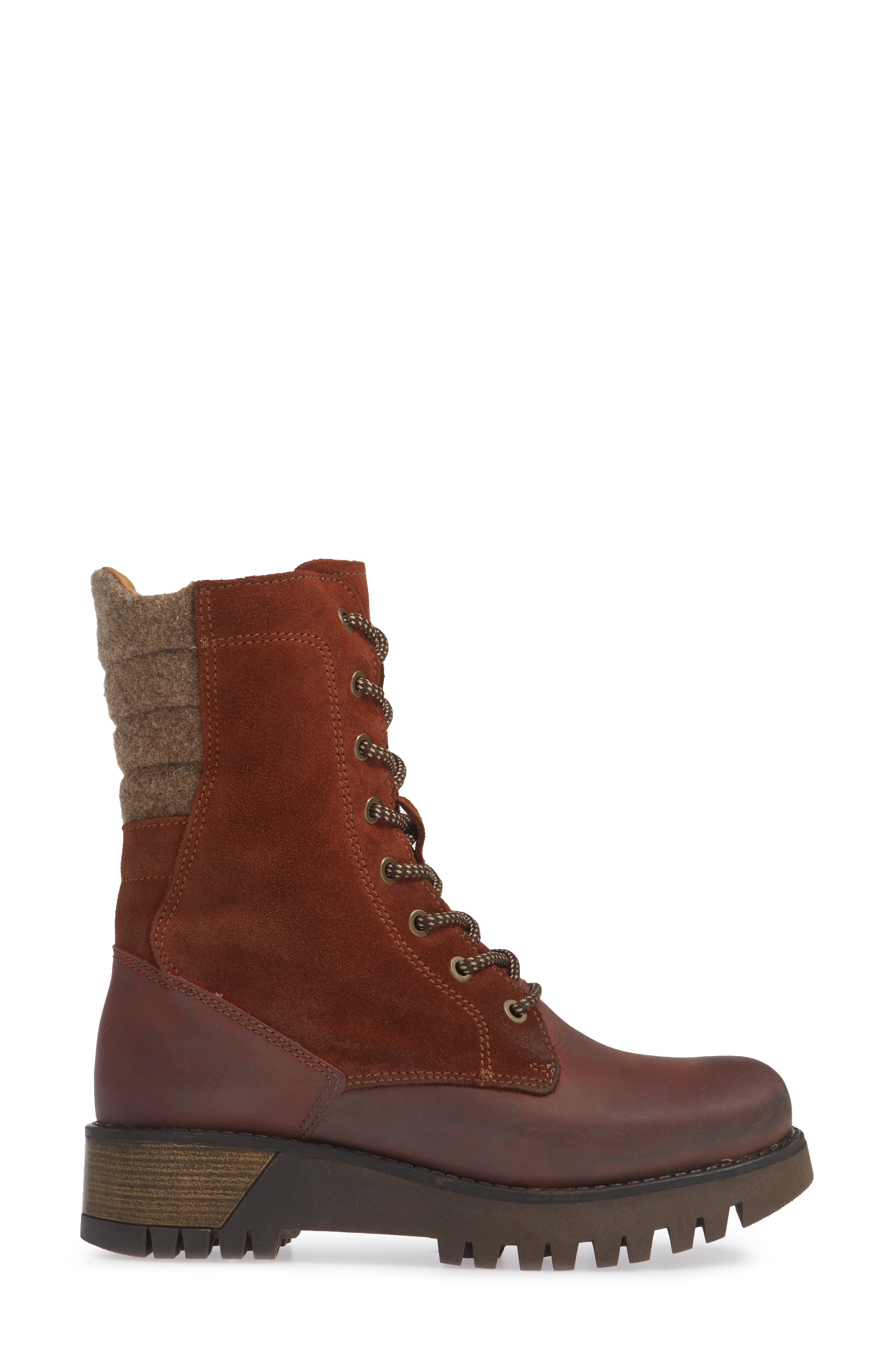 BOS. & CO.,                             Guide Waterproof & Insulated Hiking Boot,                             Alternate thumbnail 3, color,                             RUST SUEDE
