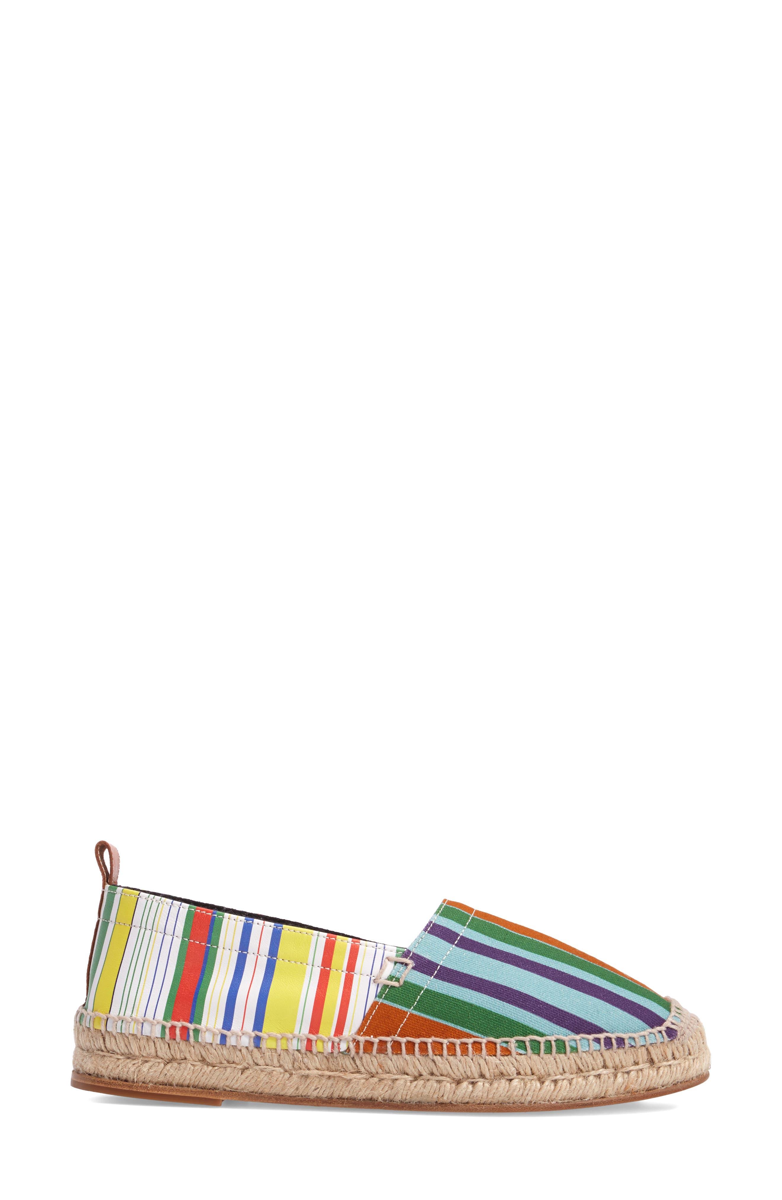Stripe Espadrille,                             Alternate thumbnail 3, color,                             400