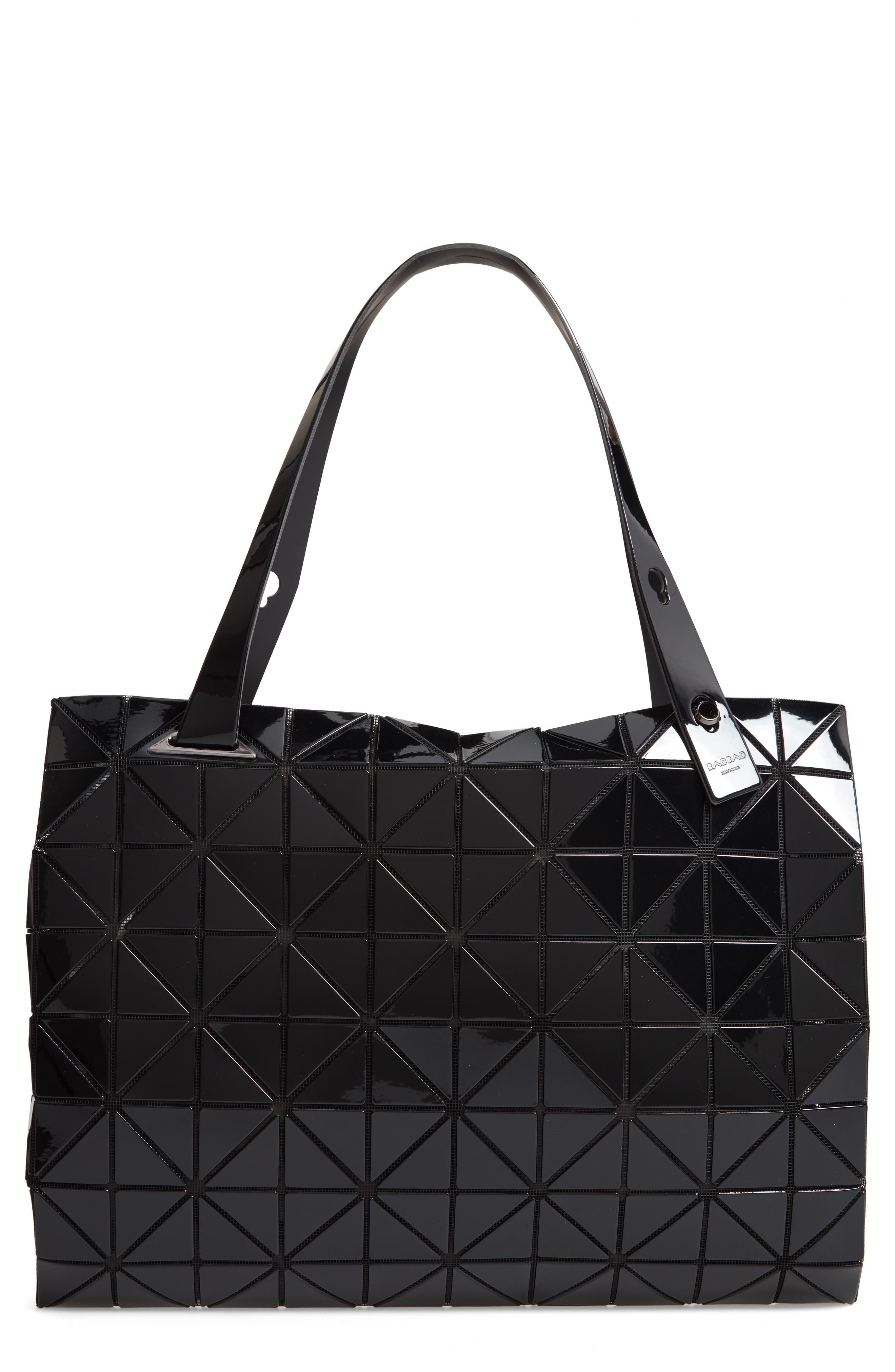 Carton Prism Tote Bag,                             Main thumbnail 1, color,                             BLACK