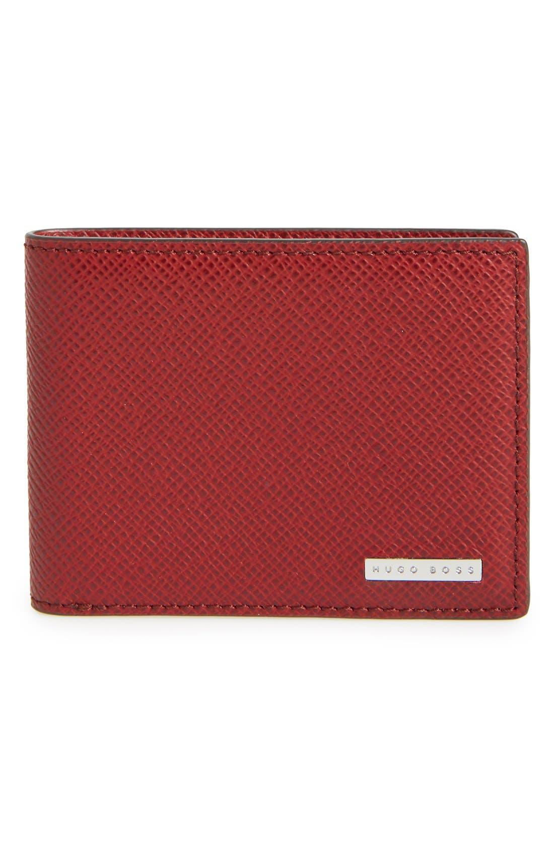'Signature' Bifold Wallet,                             Main thumbnail 4, color,