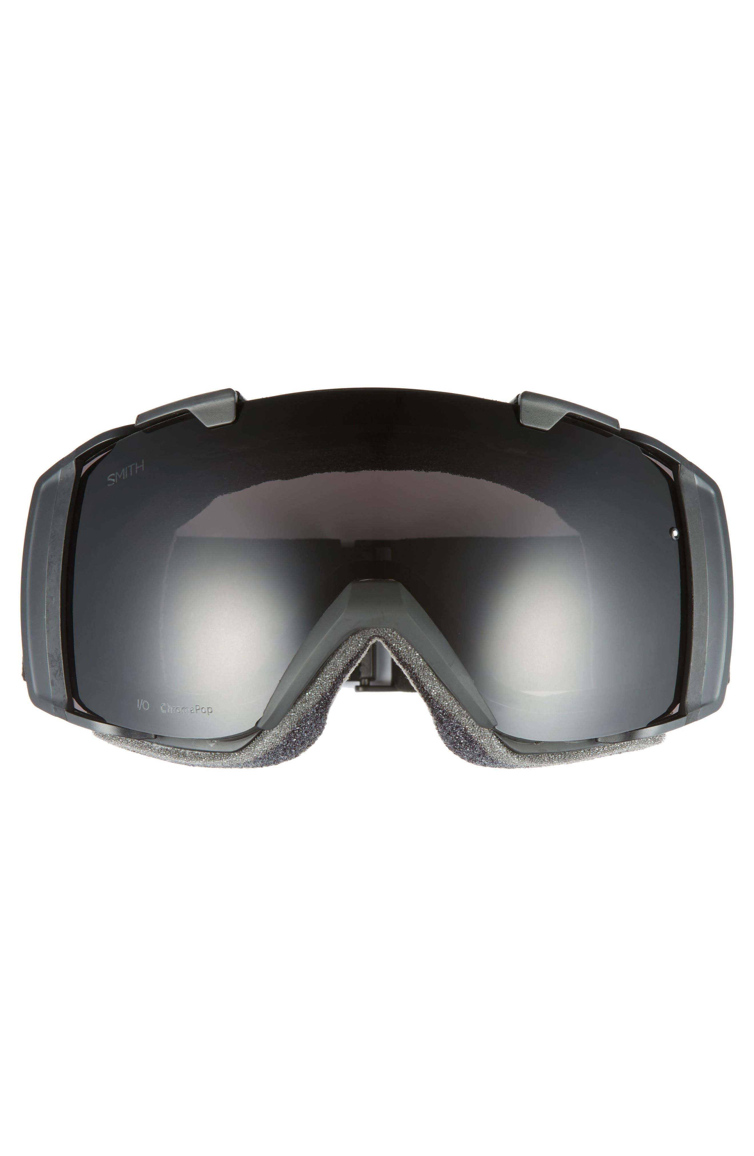 I/O 185mm Snow/Ski Goggles,                             Alternate thumbnail 3, color,                             BLACKOUT/ MIRROR