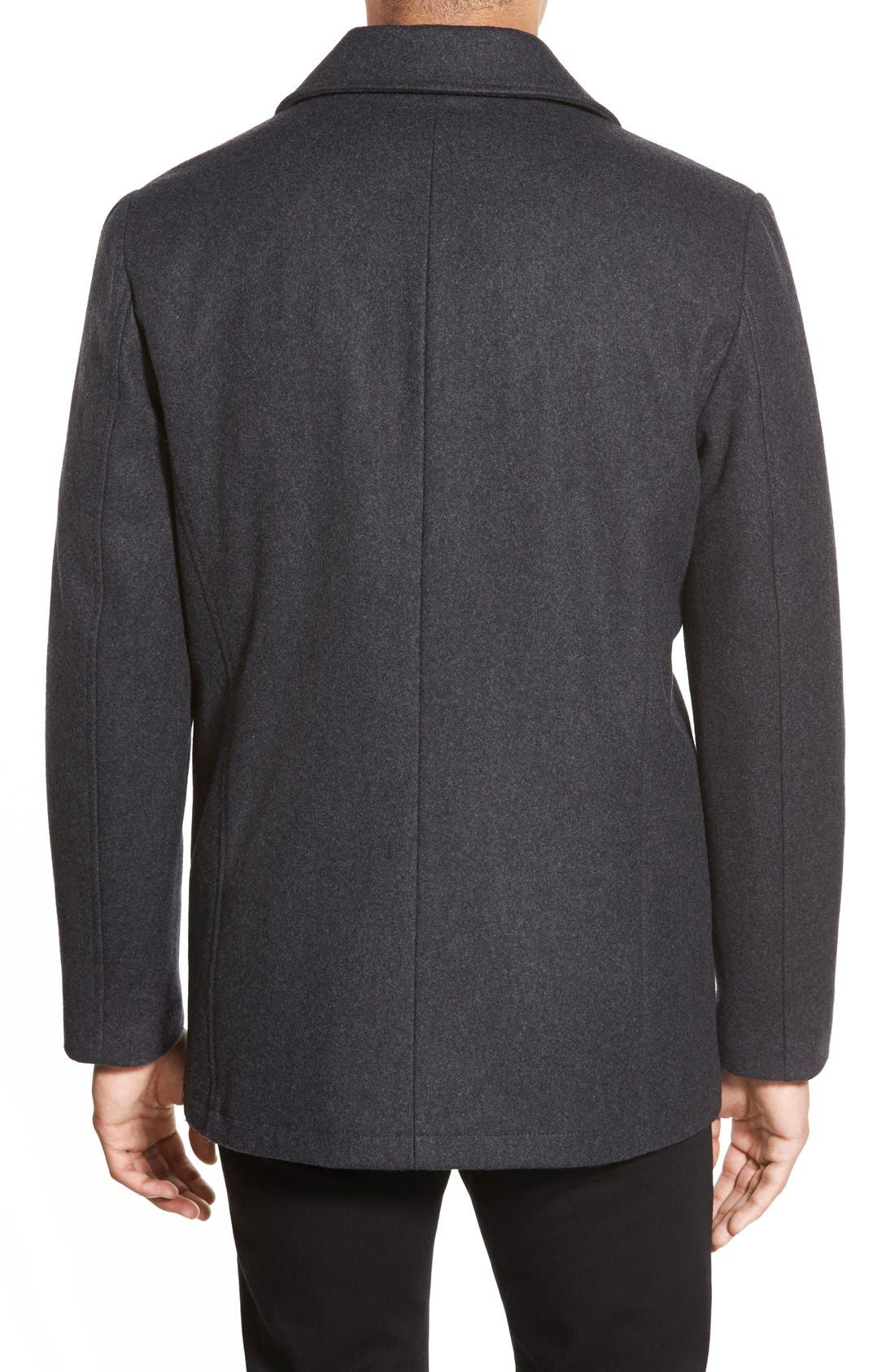 Classic Peacoat,                             Alternate thumbnail 8, color,                             CHARCOAL