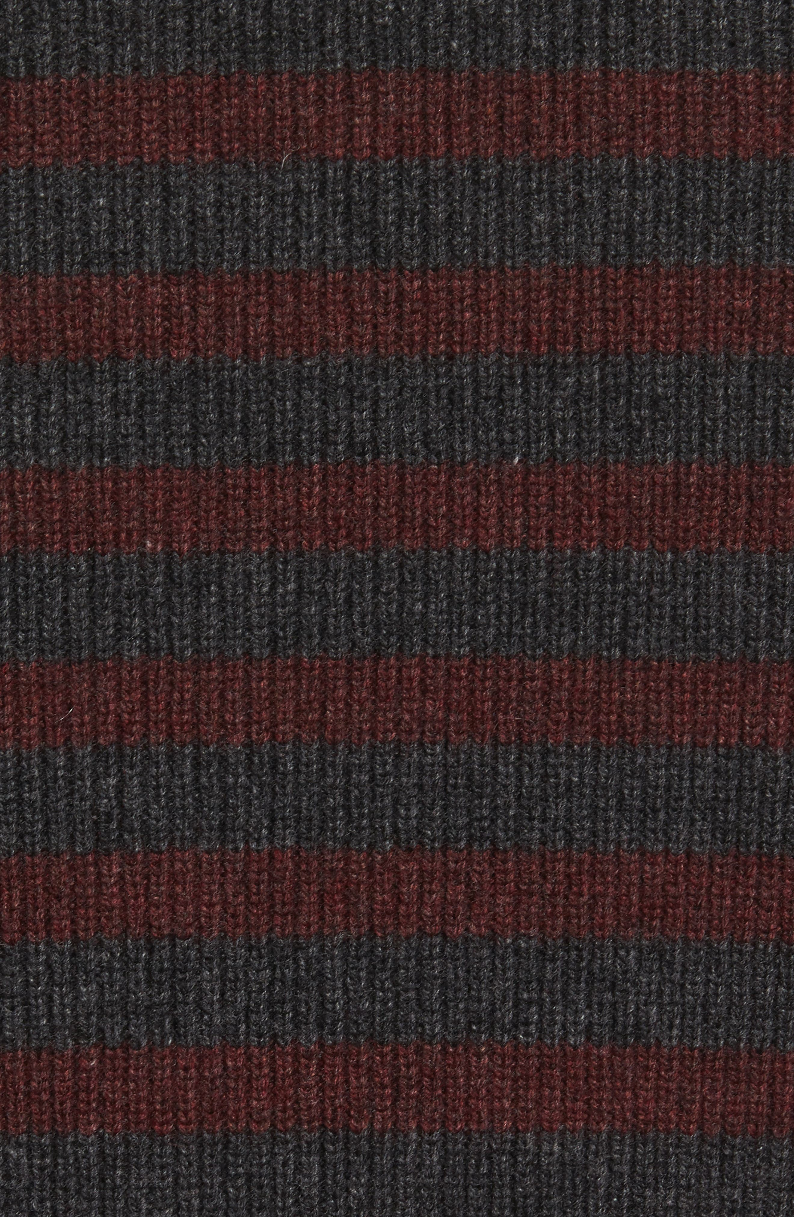 Stripe Wool & Cashmere Sweater,                             Alternate thumbnail 5, color,                             093
