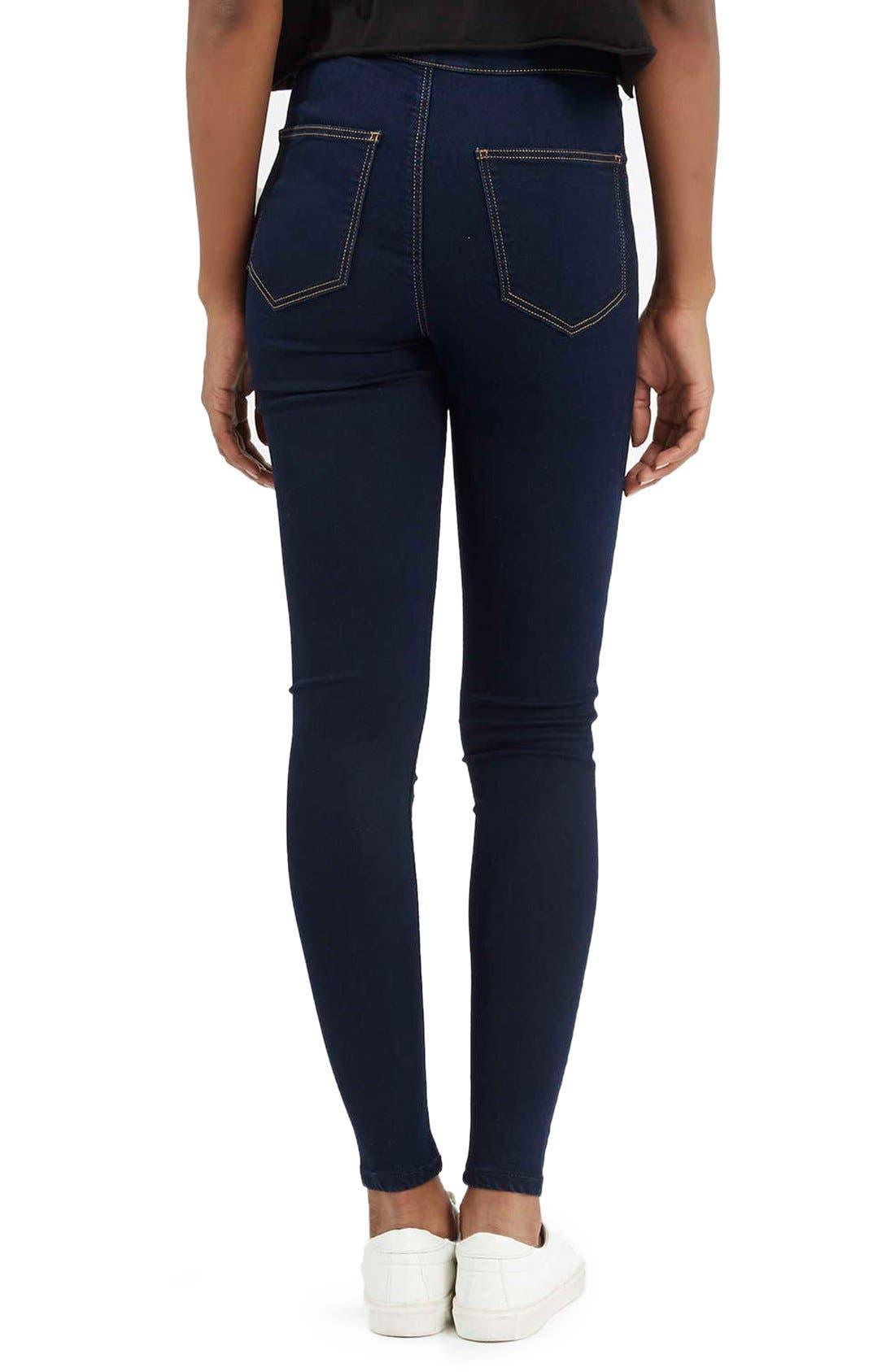 Moto 'Joni' Super Skinny Jeans,                             Alternate thumbnail 8, color,