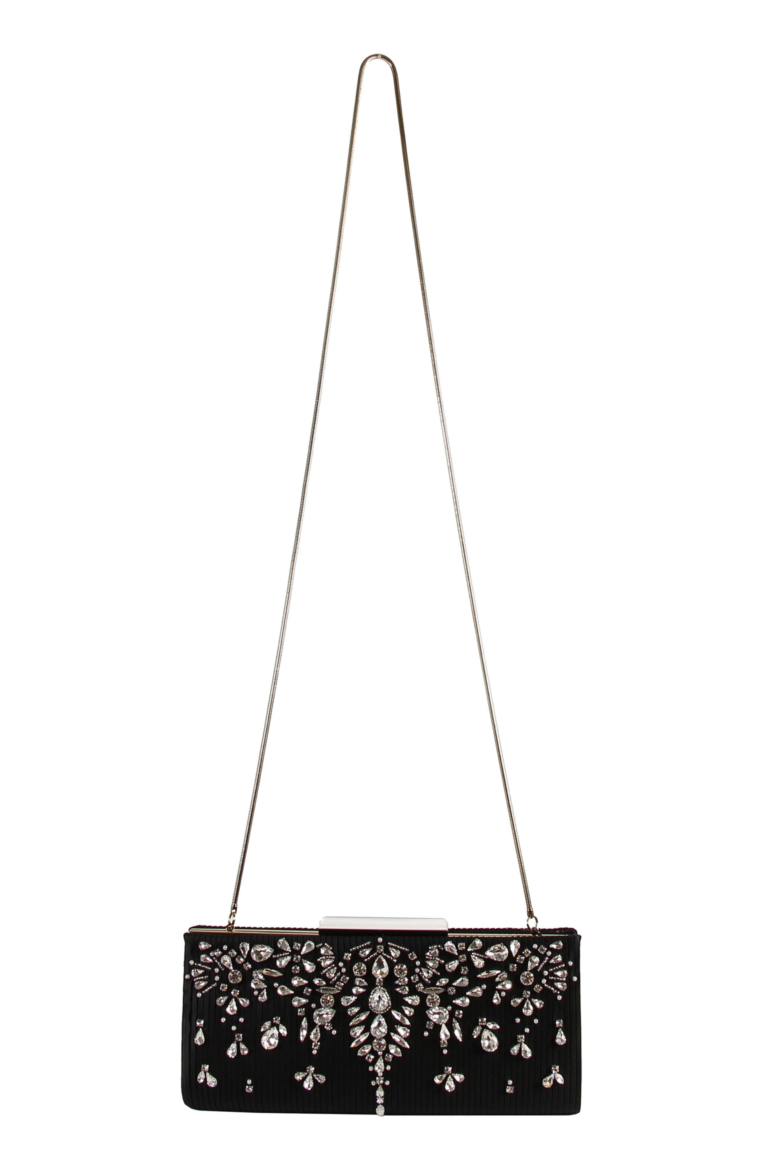 Gale Embellished Clutch,                             Alternate thumbnail 4, color,                             001