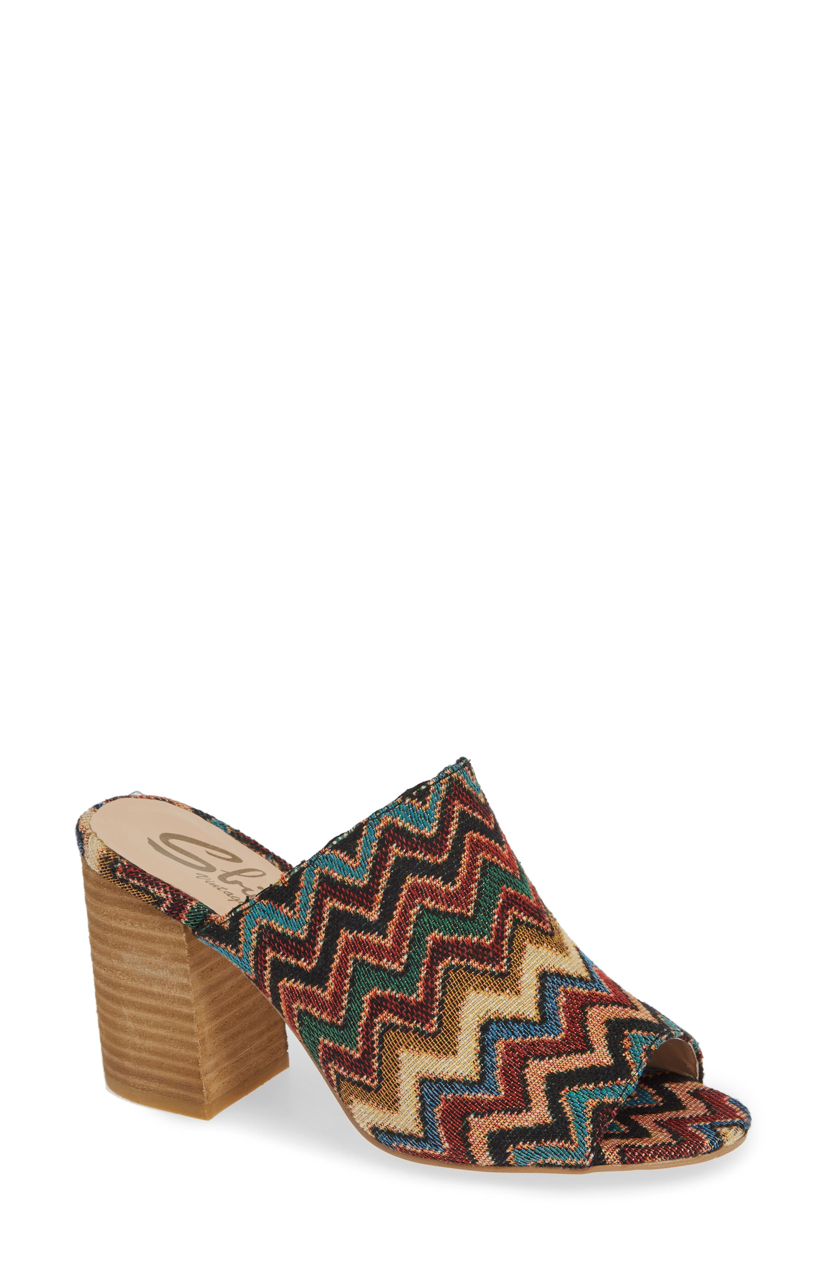 Helena Sandal,                         Main,                         color, MULTICOLOR FABRIC