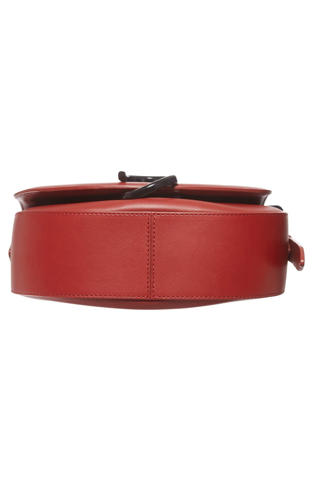 Alix Leather Saddle Bag,                             Alternate thumbnail 18, color,