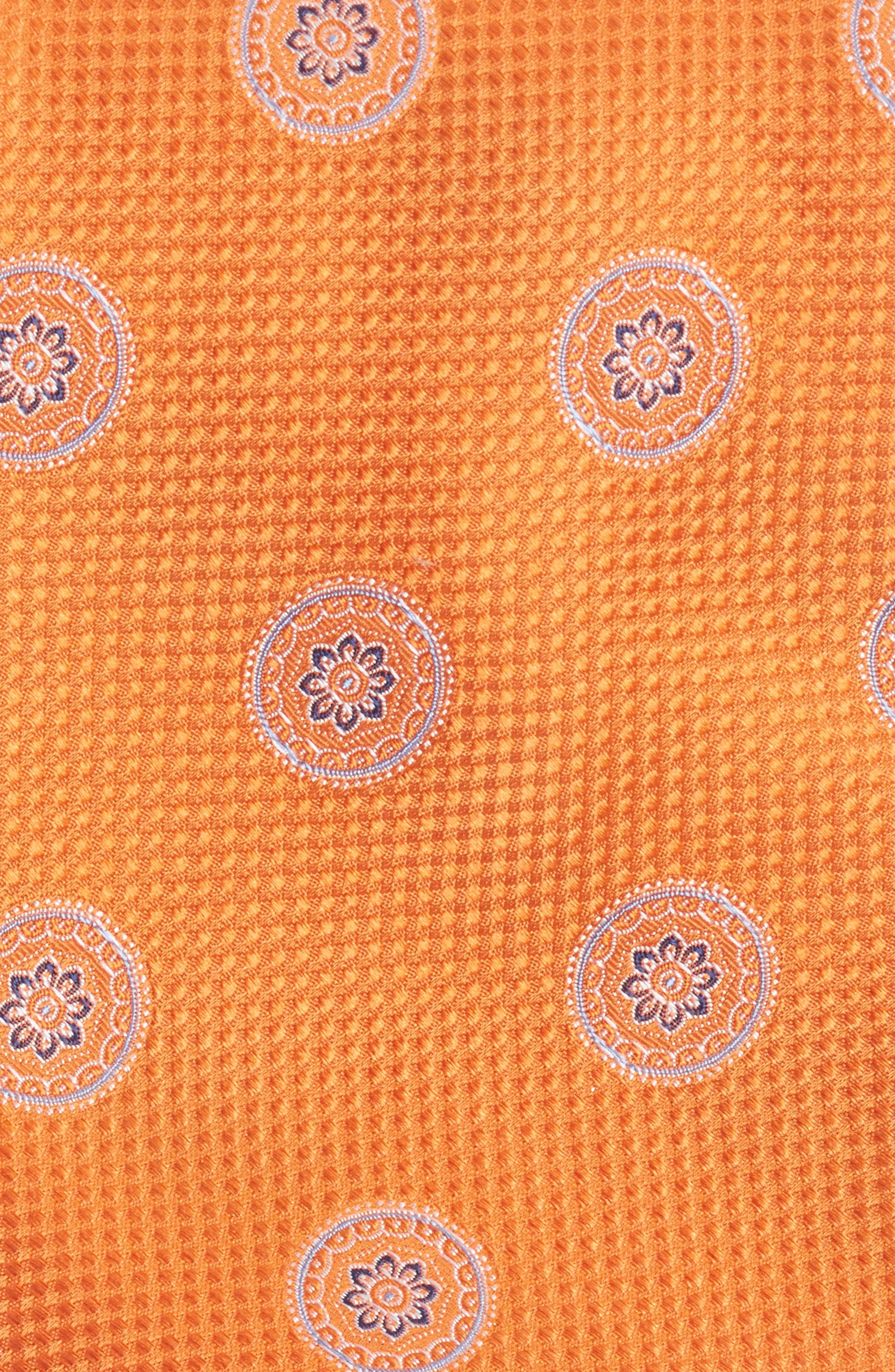 Circular Medallion Silk Tie,                             Alternate thumbnail 6, color,