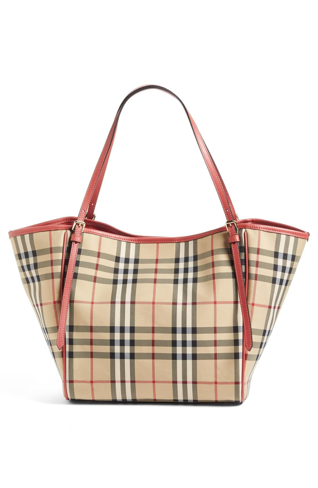 Small Canter Horseferry Check Tote,                             Alternate thumbnail 7, color,