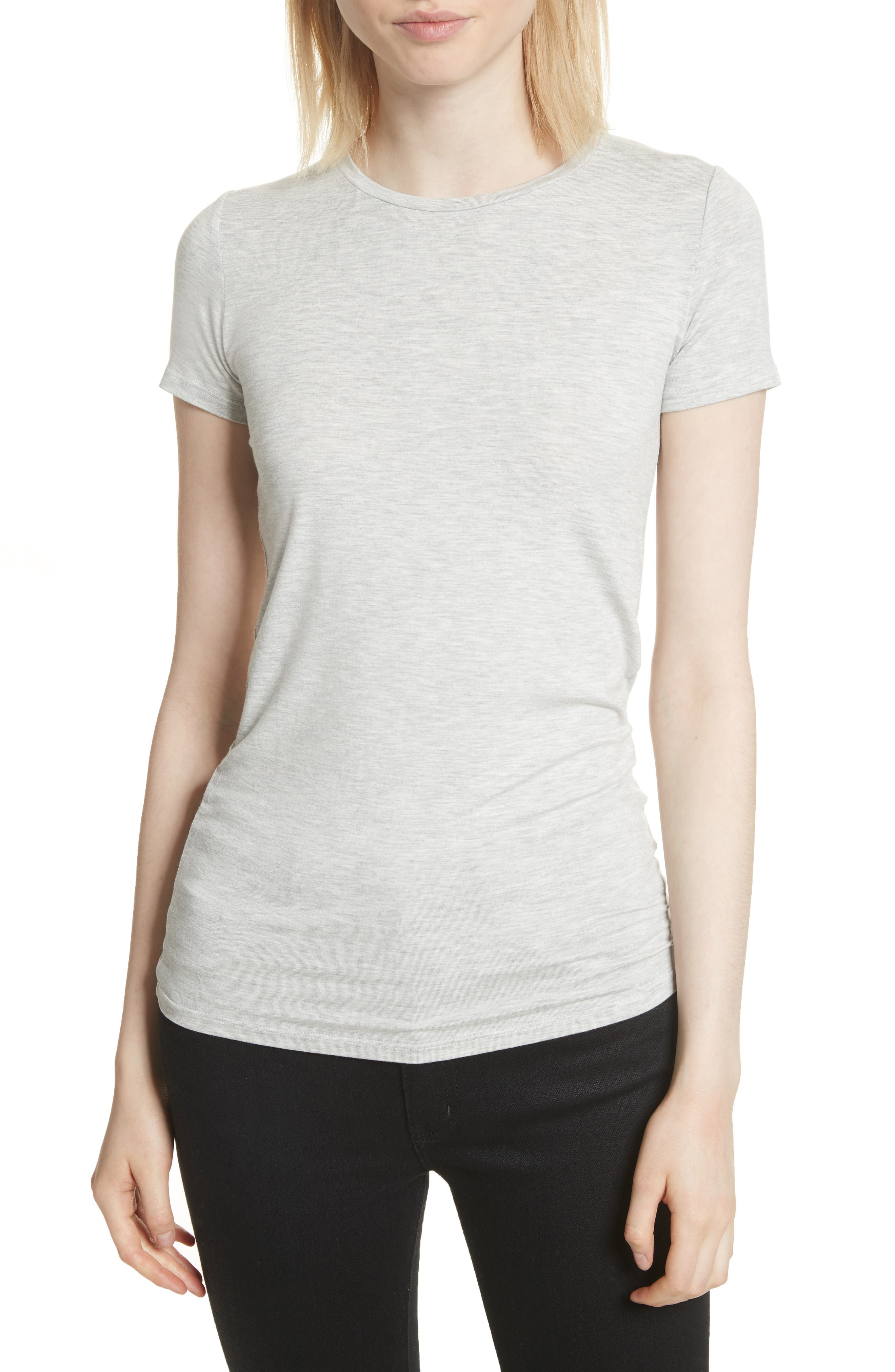 Basic Stretch Knit Top,                         Main,                         color, NACRE CHINE