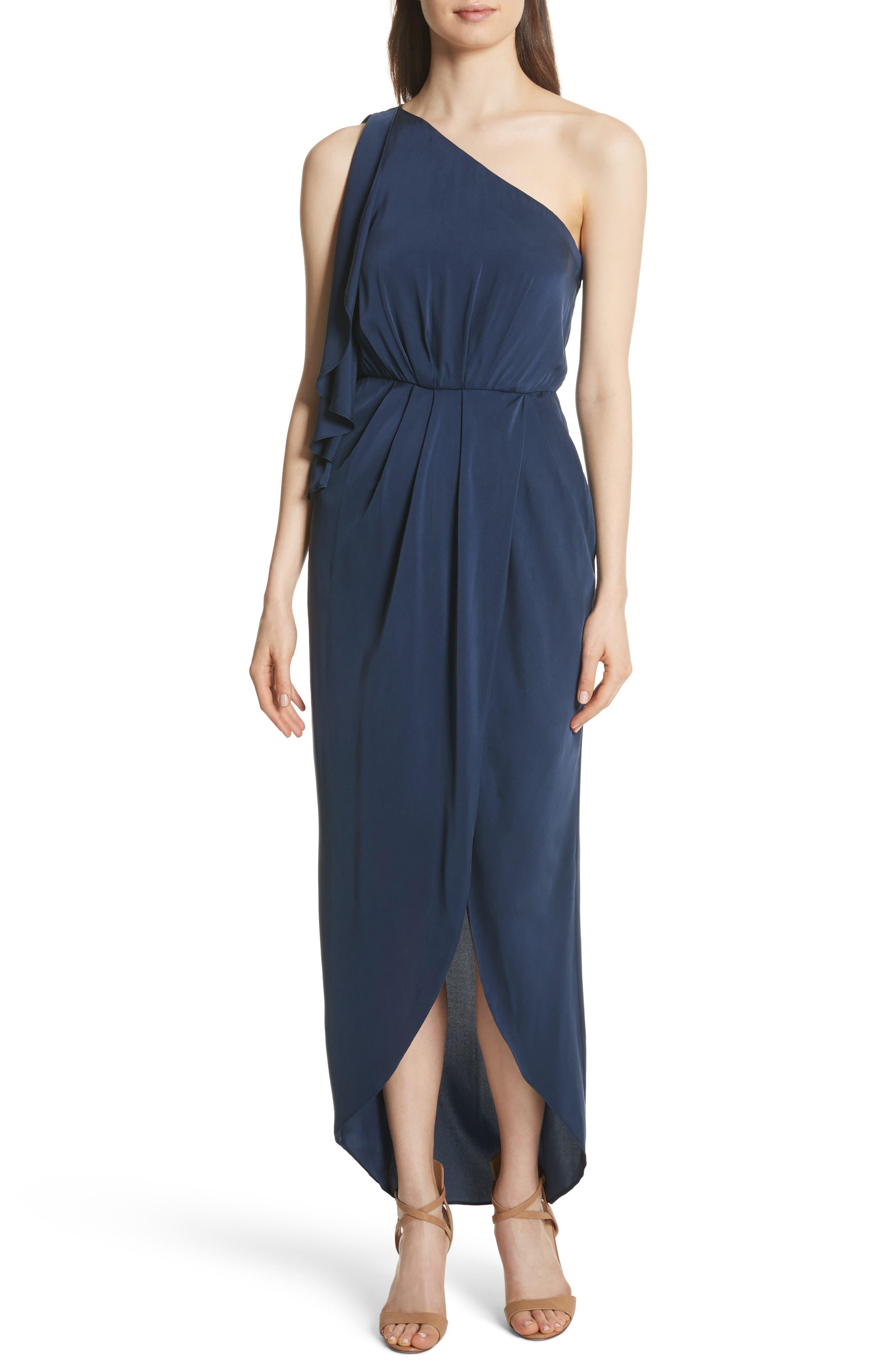 Oleta Side Drape Goddess Dress,                         Main,                         color, 460