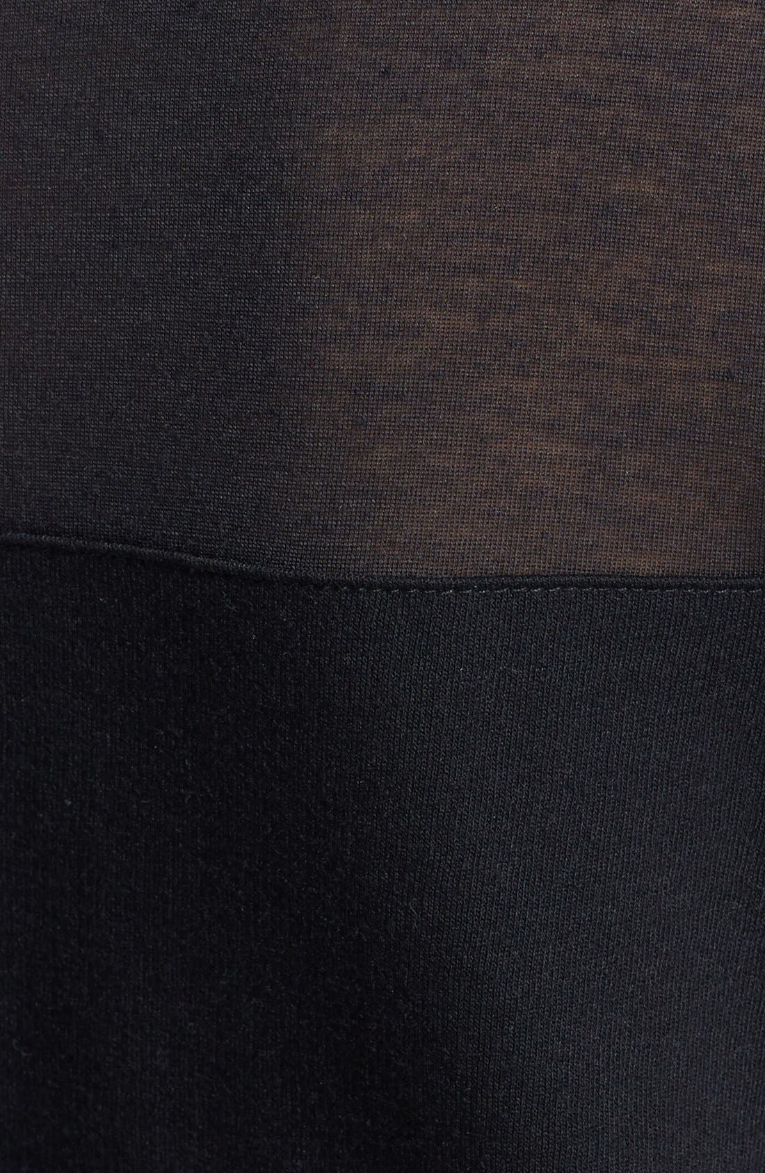 Sheer Yoke Sweatshirt,                             Alternate thumbnail 3, color,                             001
