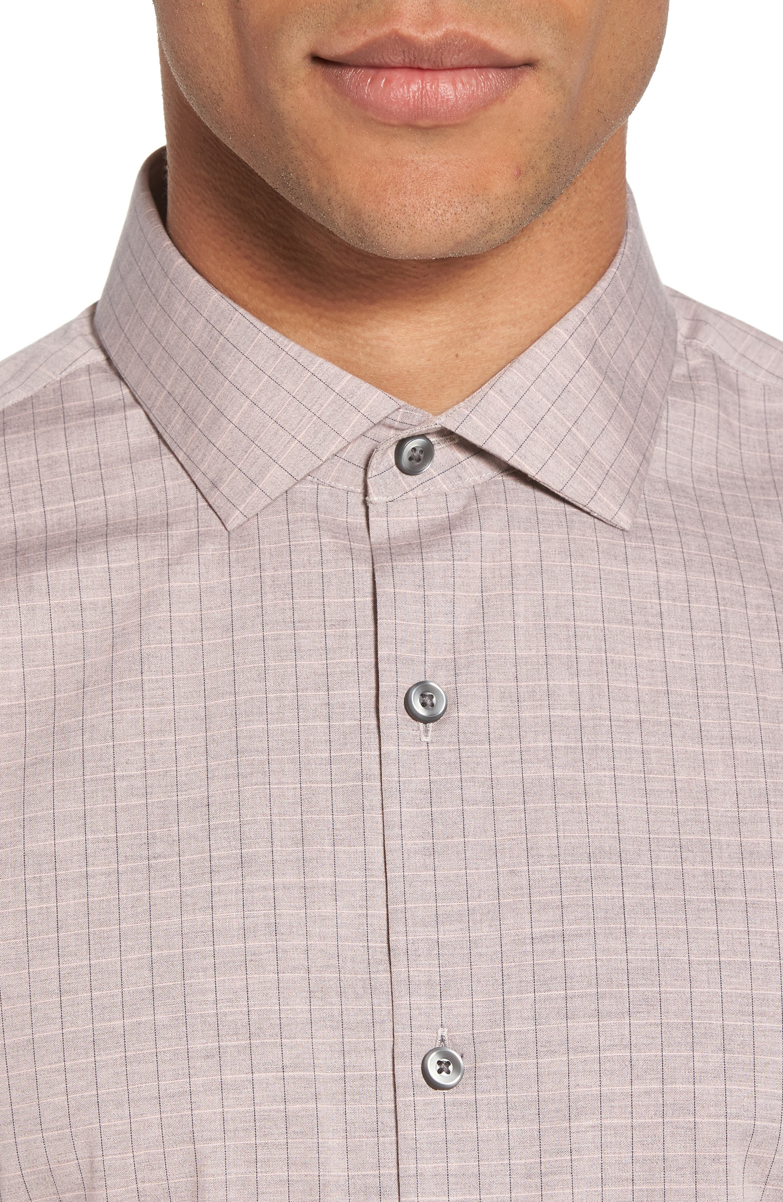 Grid Sport Shirt,                             Alternate thumbnail 4, color,                             680