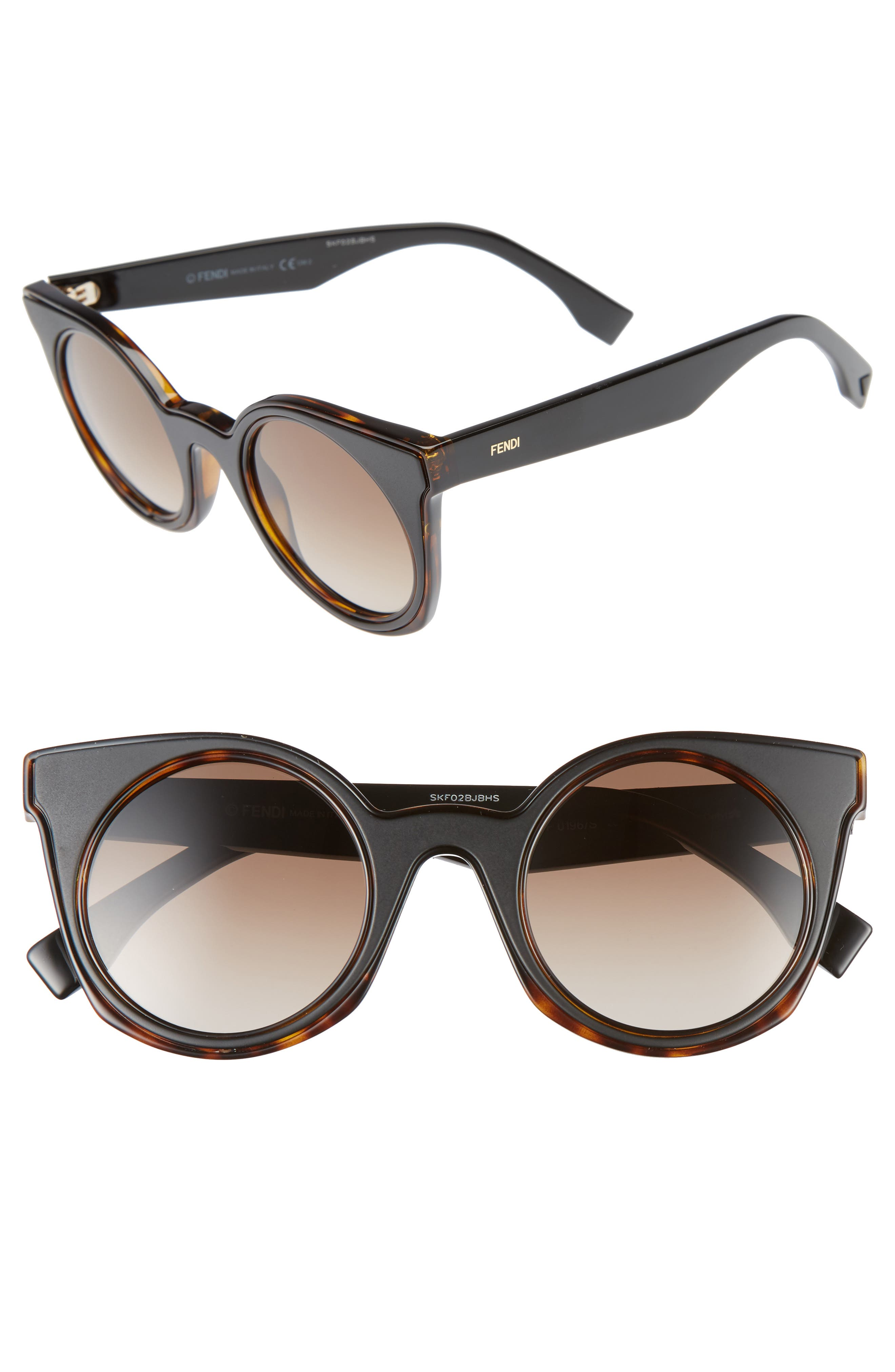 48mm Cat Eye Sunglasses,                             Alternate thumbnail 2, color,                             210