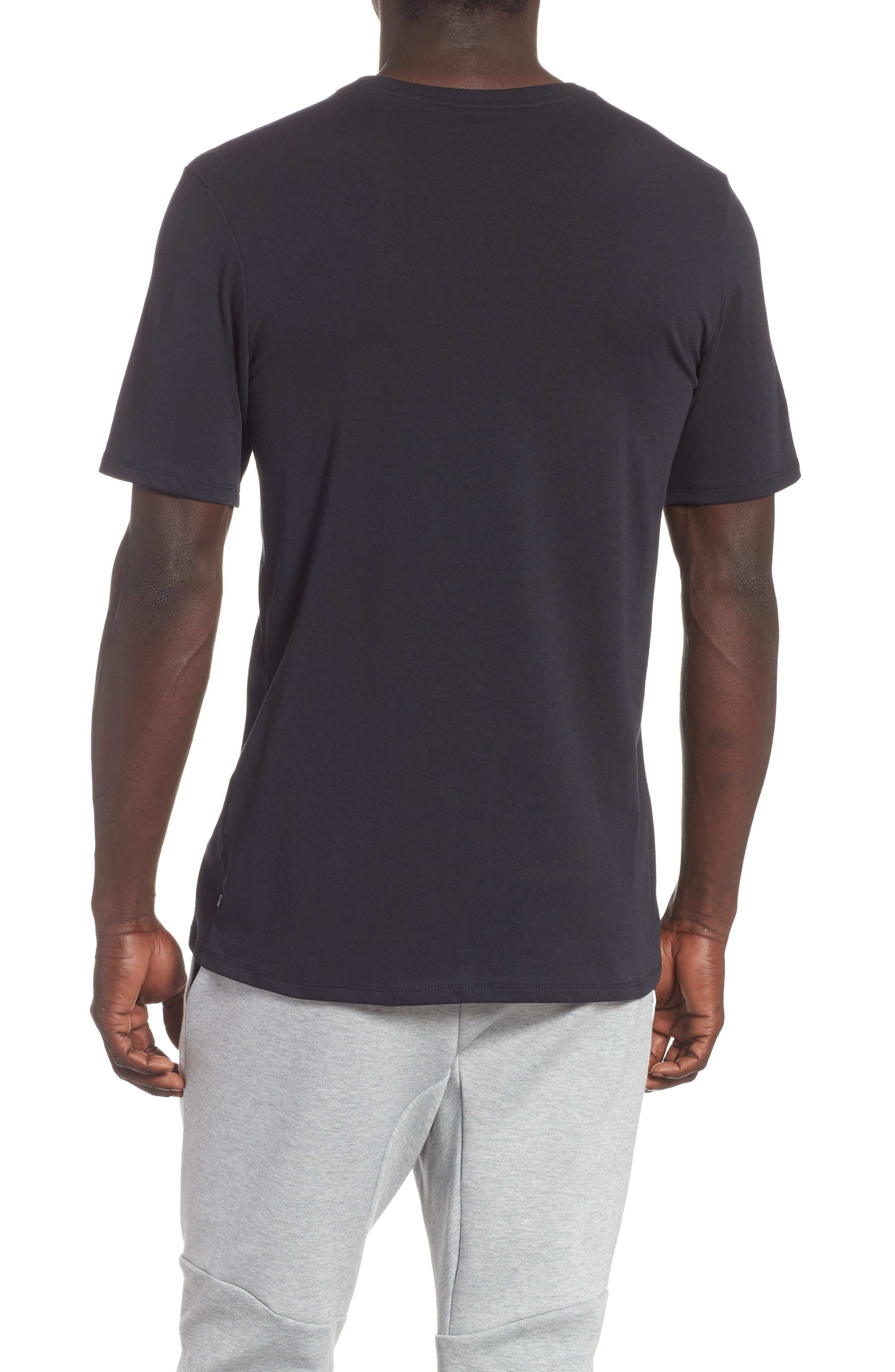 Nike 'SB Logo' T-Shirt,                             Alternate thumbnail 2, color,                             BLACK/ YELLOW/ OCHRE