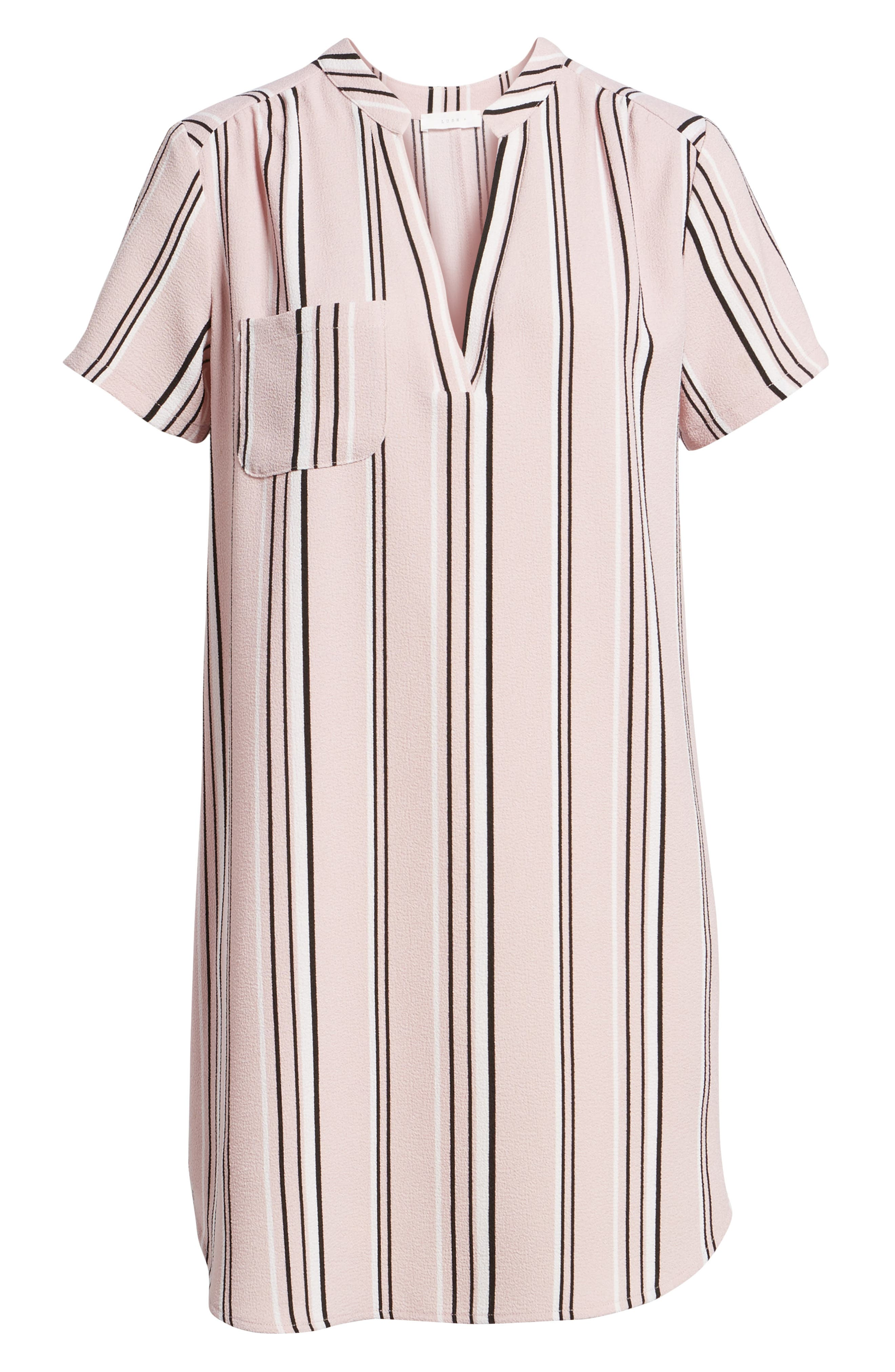 Hailey Crepe Shift Dress,                             Alternate thumbnail 6, color,                             651
