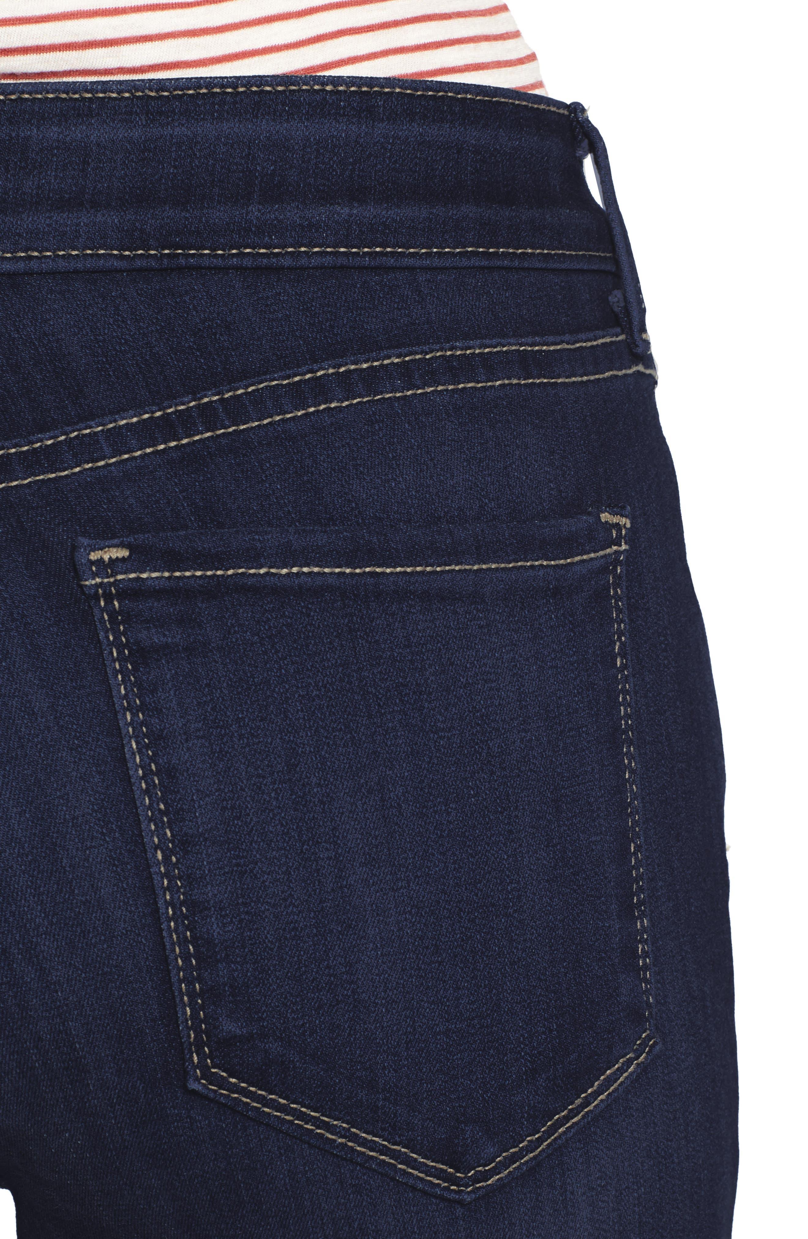 Ami Release Hem Stretch Skinny Jeans,                             Alternate thumbnail 4, color,                             464