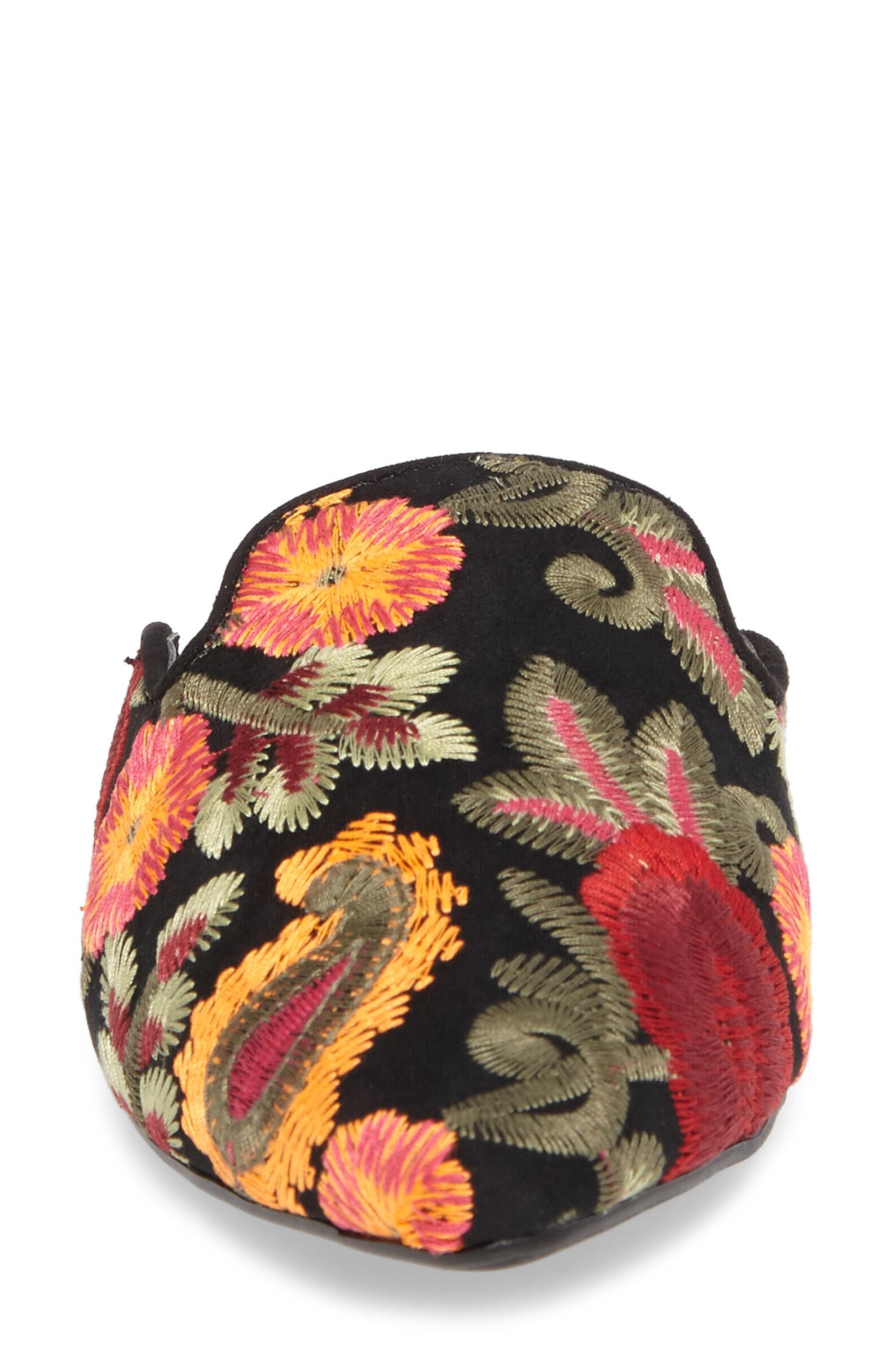 Cameo Embroidered Mule,                             Alternate thumbnail 4, color,                             001