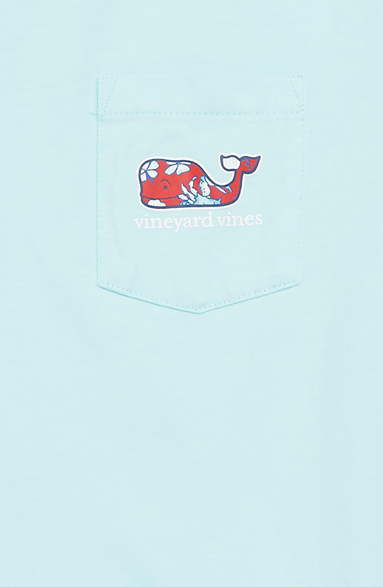Crab & Flower Whale Pocket T-Shirt,                             Alternate thumbnail 3, color,                             650