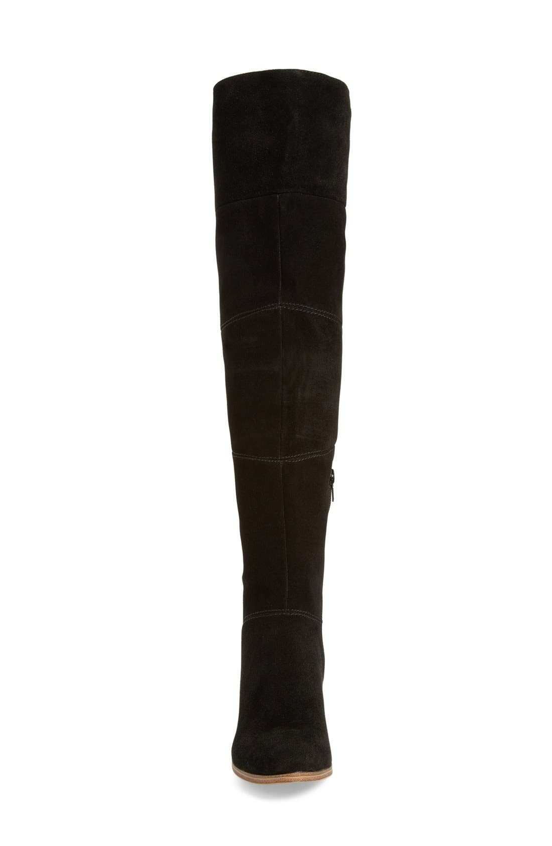 Melbourne Over the Knee Boot,                             Alternate thumbnail 3, color,                             BLACK SUEDE