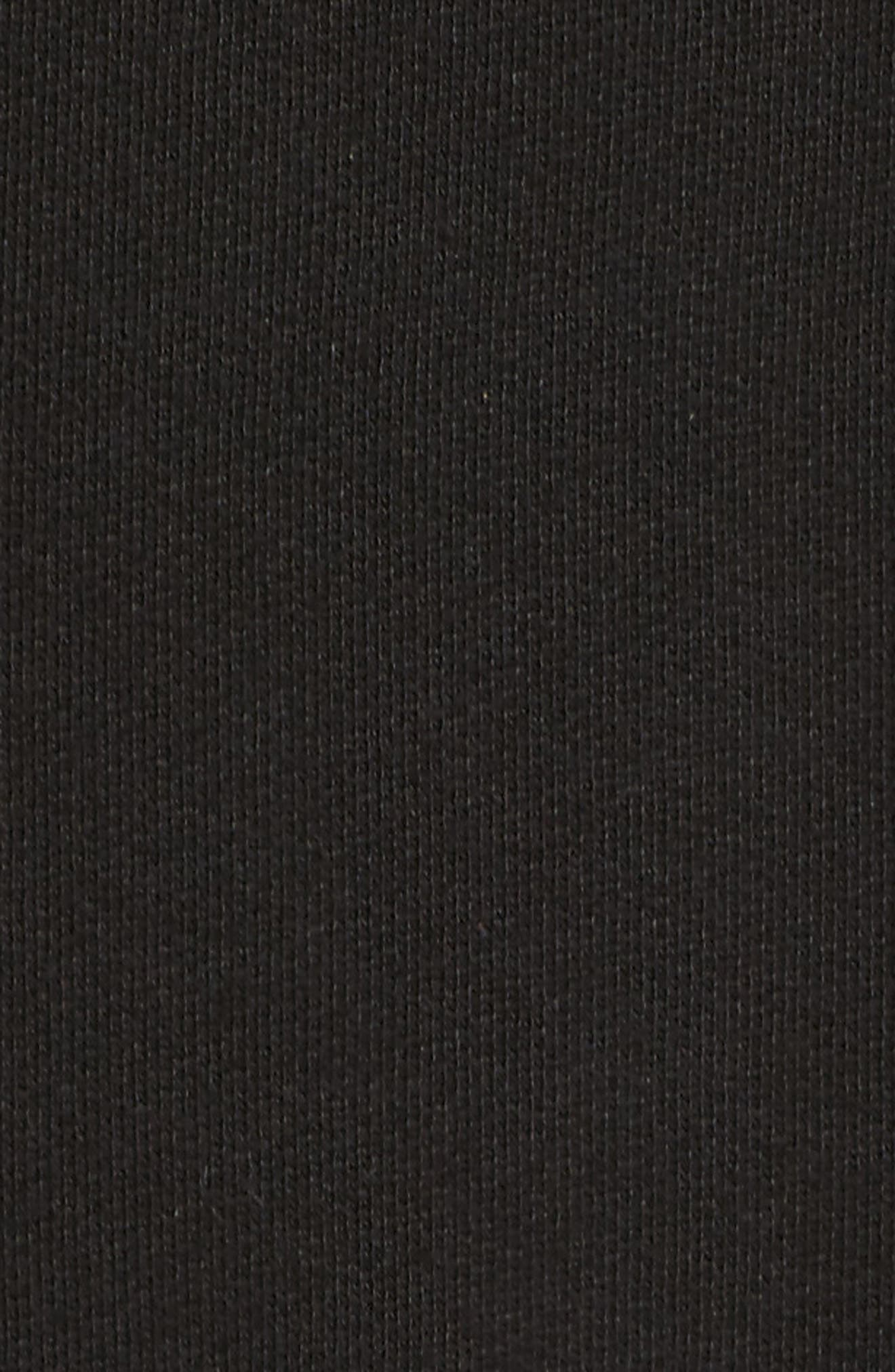 Split Hooded Poncho,                             Alternate thumbnail 6, color,                             001