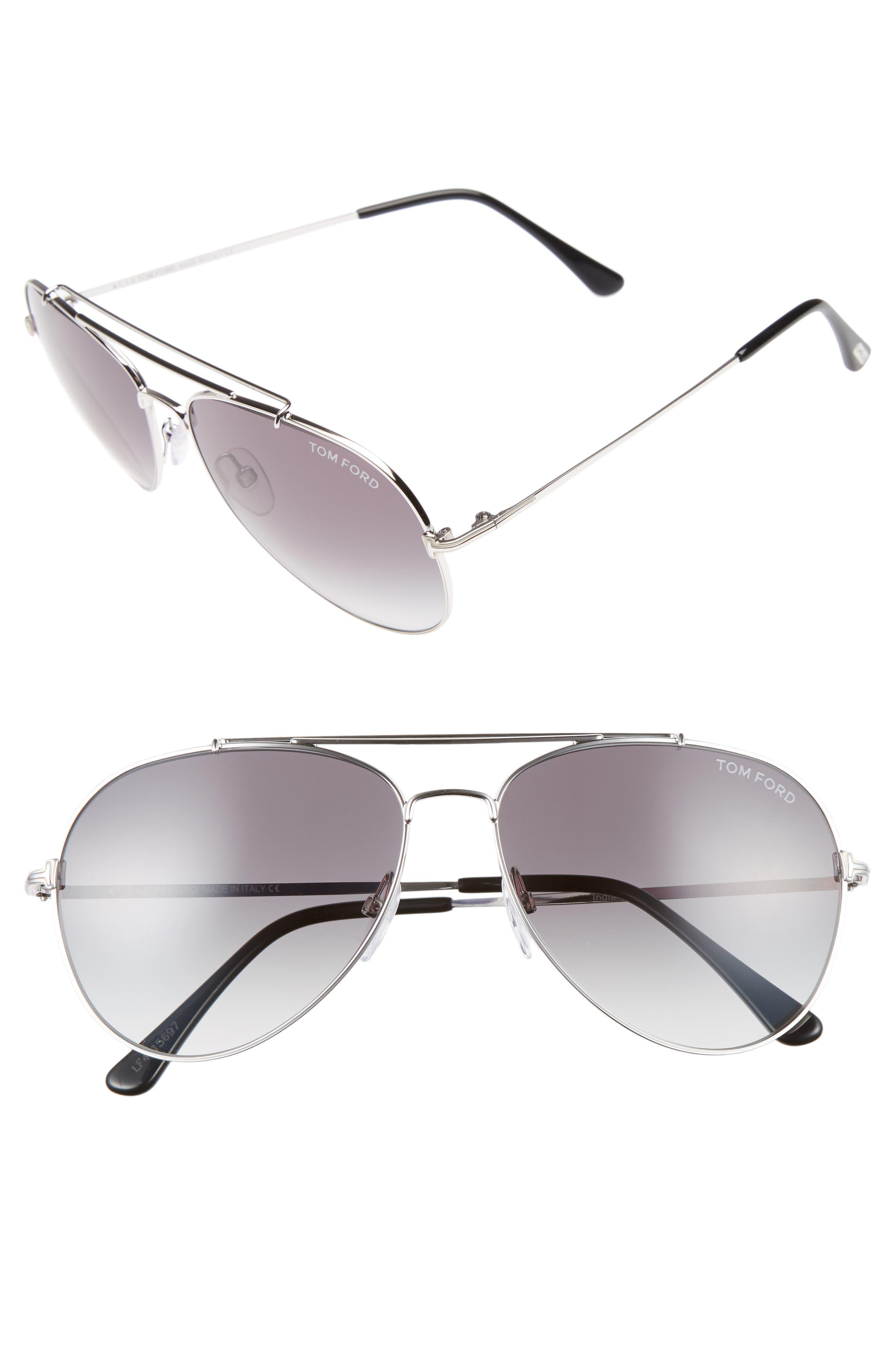Indiana 60mm Aviator Sunglasses,                             Main thumbnail 1, color,                             041
