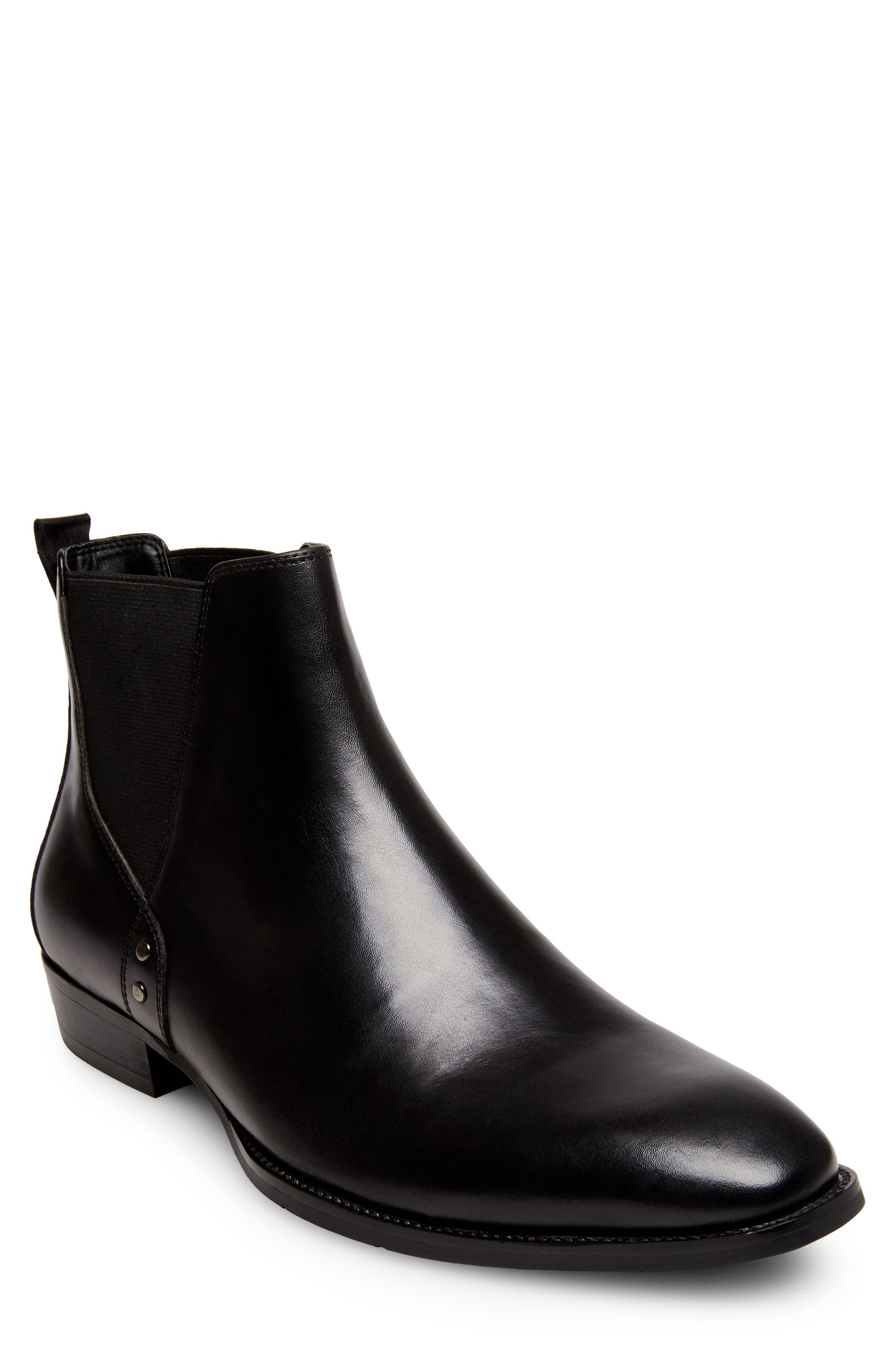 Simon Chelsea Boot,                         Main,                         color, BLACK LEATHER