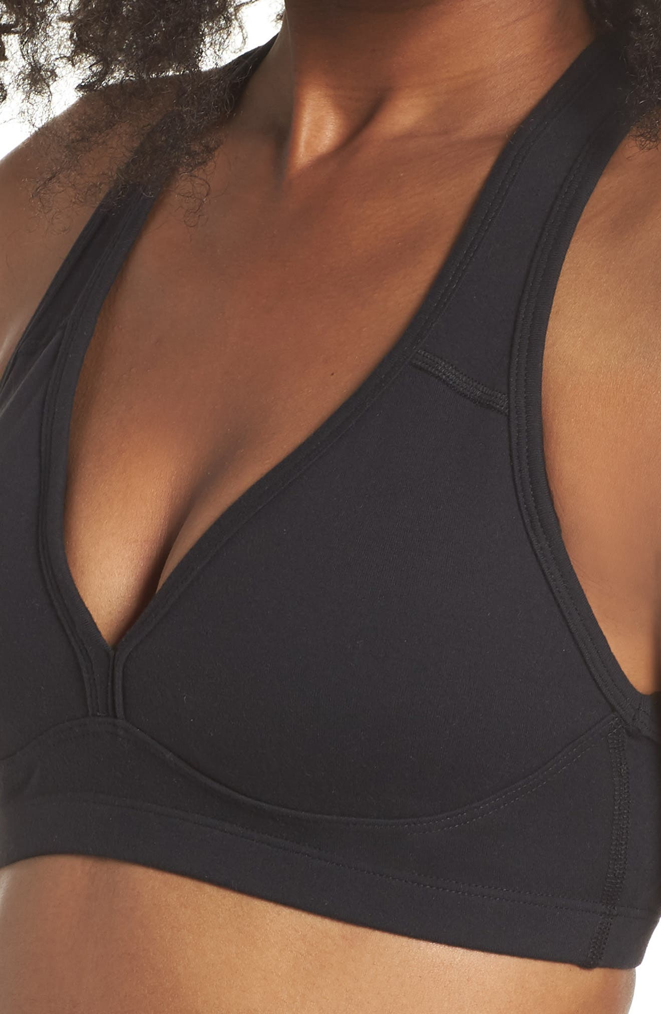Lift Your Spirits Sports Bra,                             Alternate thumbnail 4, color,                             JET BLACK
