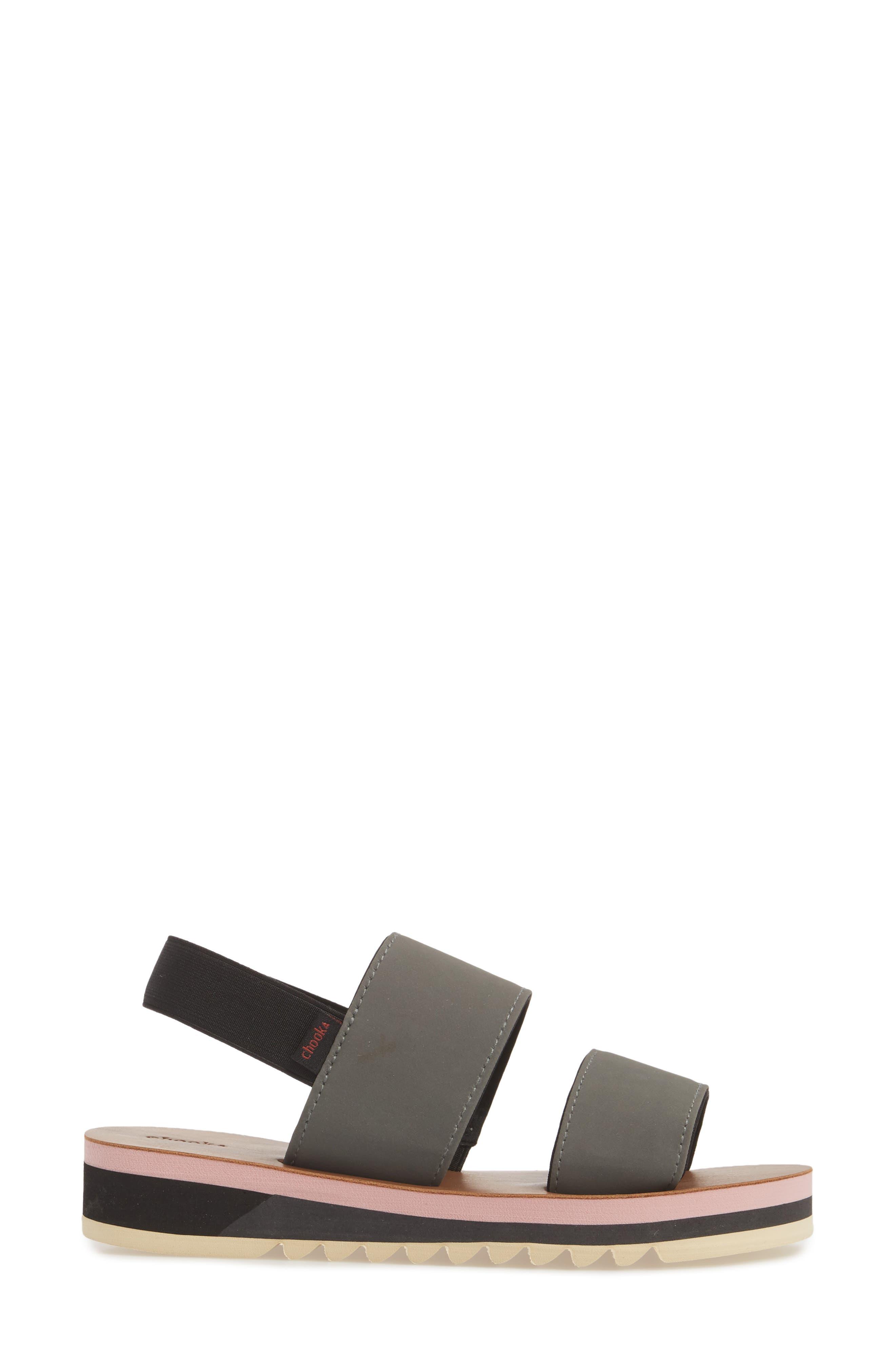 Flatform Sandal,                             Alternate thumbnail 3, color,                             GREY