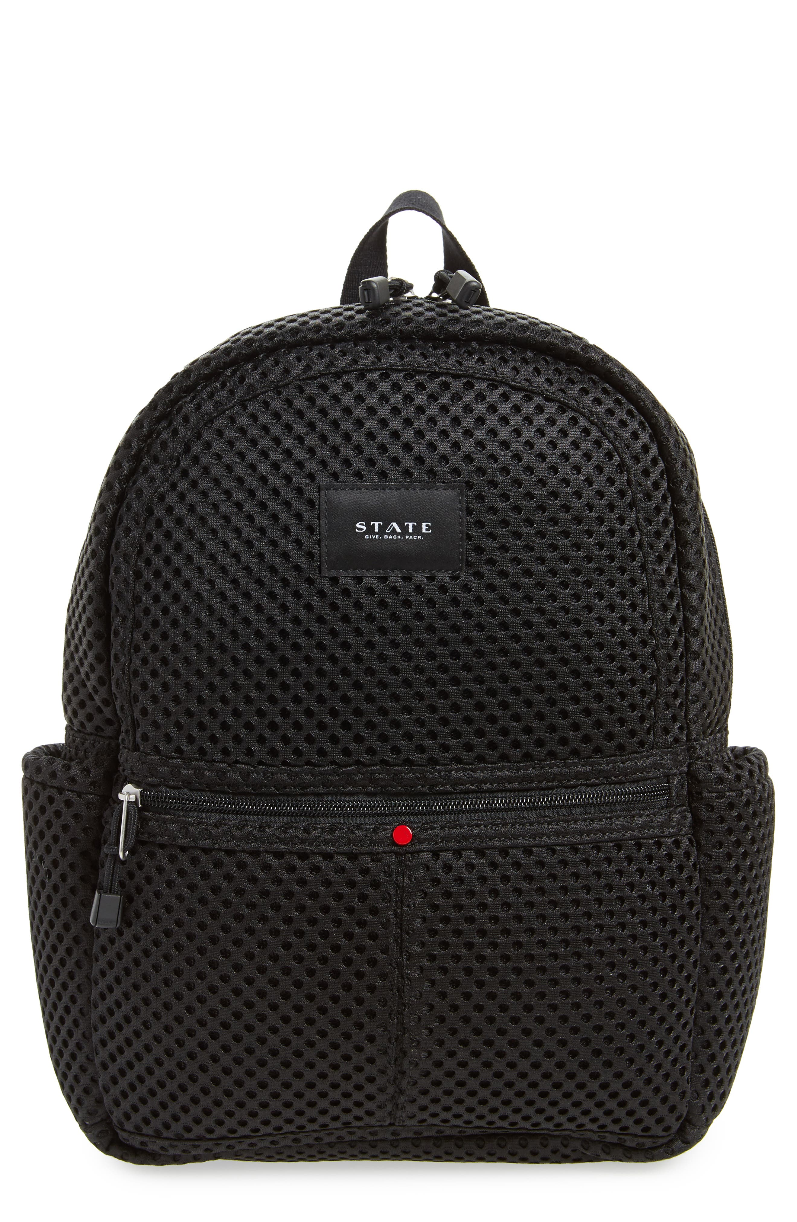 Lacrosse Mesh Kane Backpack,                             Main thumbnail 1, color,                             001