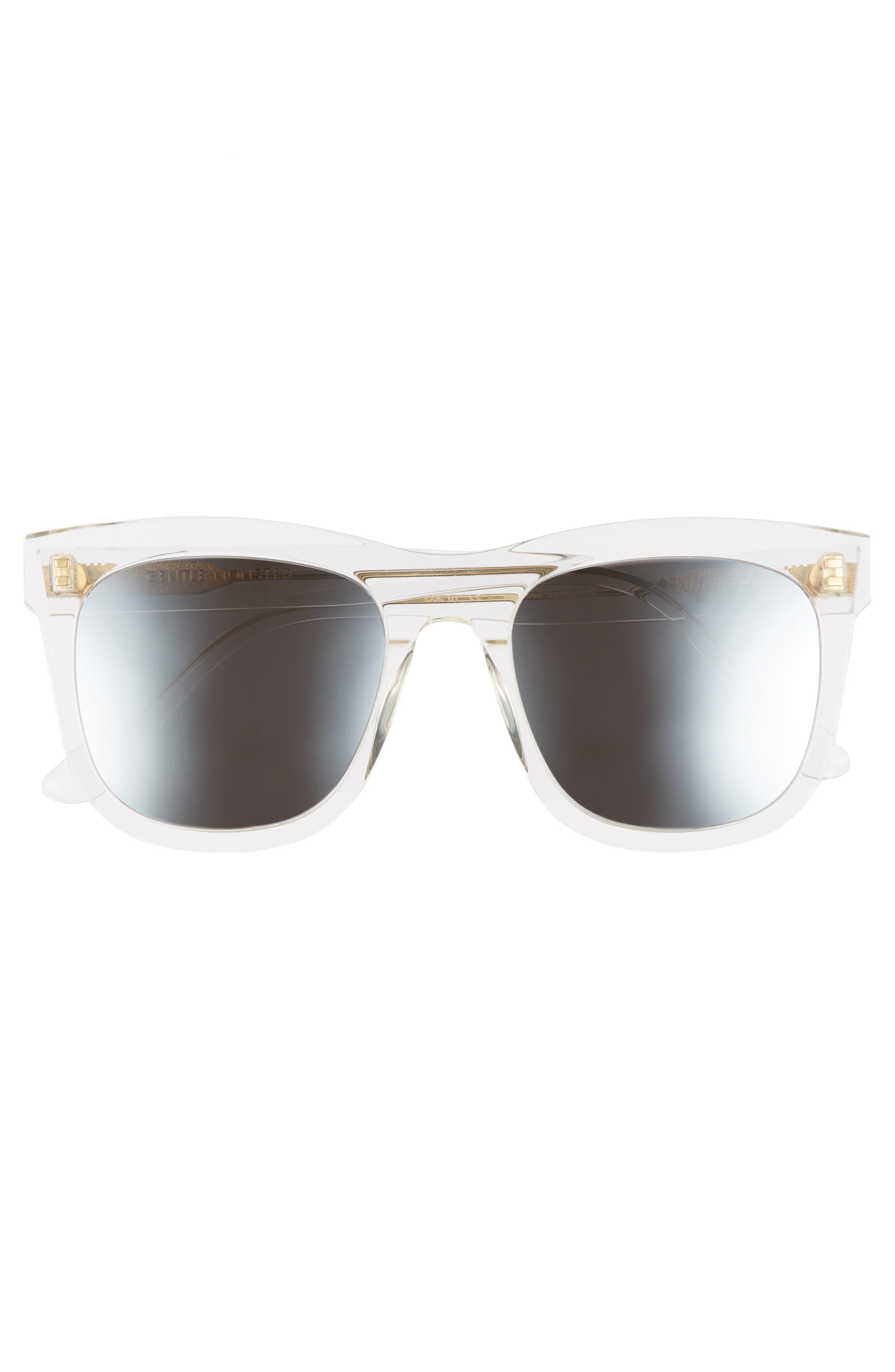 Pulp Fiction 54mm Sunglasses,                             Alternate thumbnail 3, color,                             100