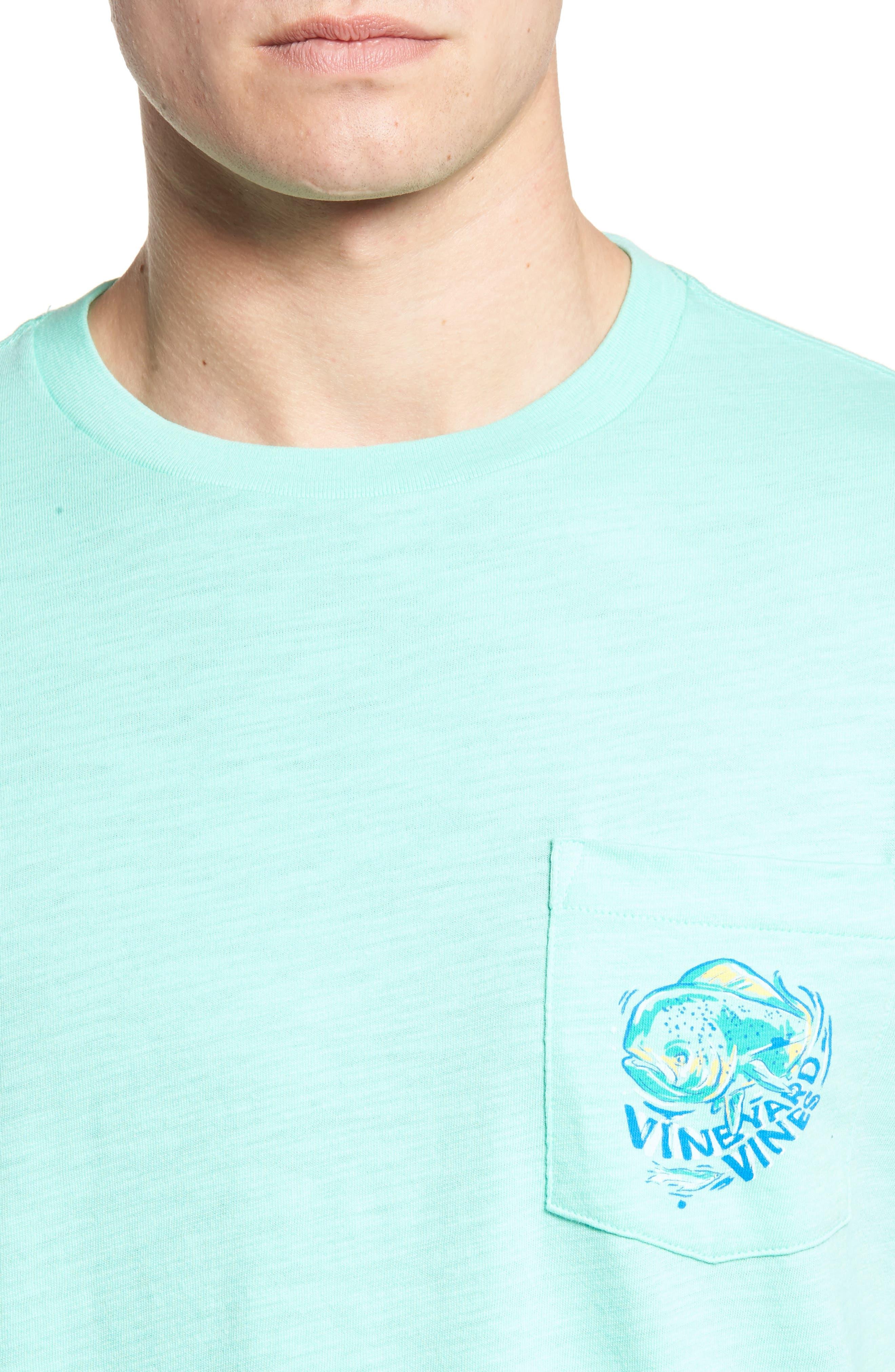 Painted Mahi Graphic Slub T-Shirt,                             Alternate thumbnail 4, color,