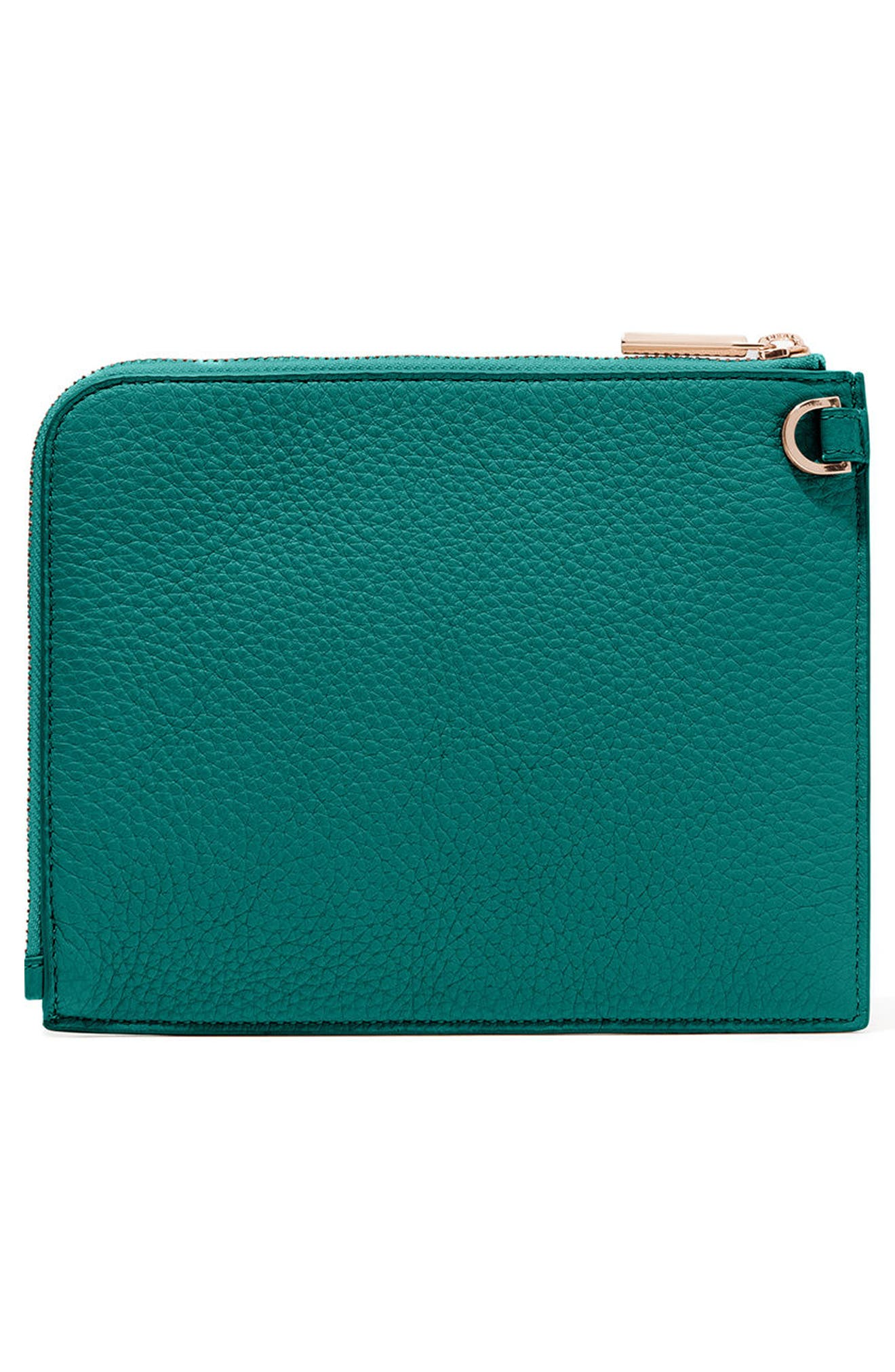 Small Elle Leather Clutch,                             Alternate thumbnail 22, color,