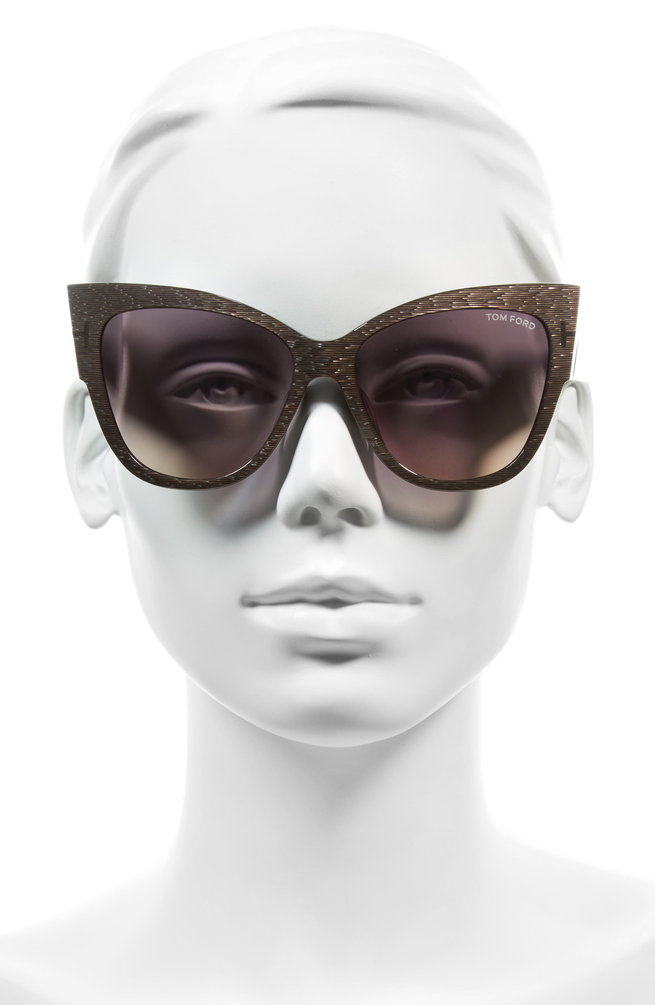 Anoushka 57mm Special Fit Butterfly Sunglasses,                             Alternate thumbnail 2, color,                             DOVE GREY/ GREY GRADIENT SAND