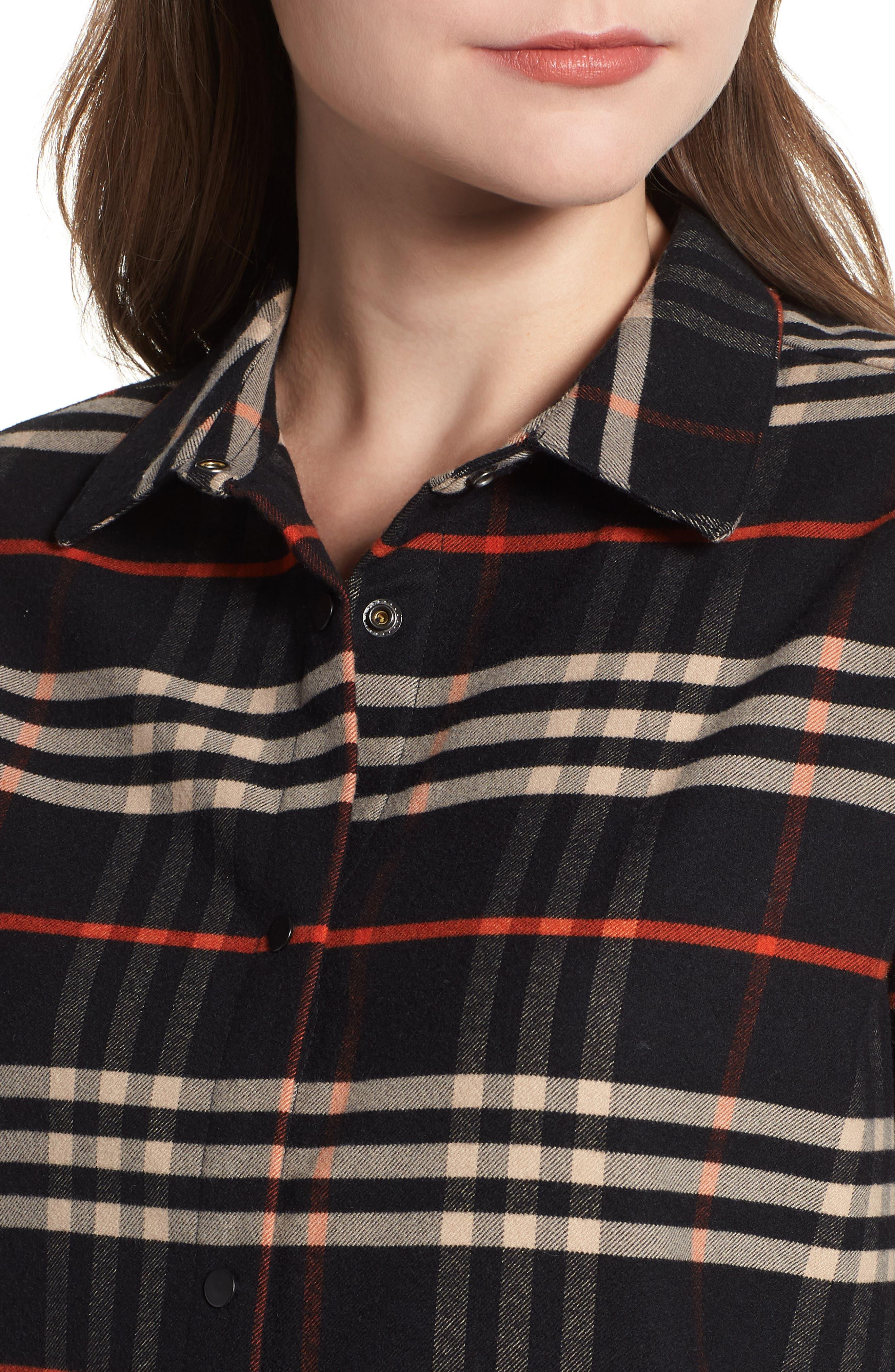 Check Shirtdress,                             Alternate thumbnail 4, color,                             001