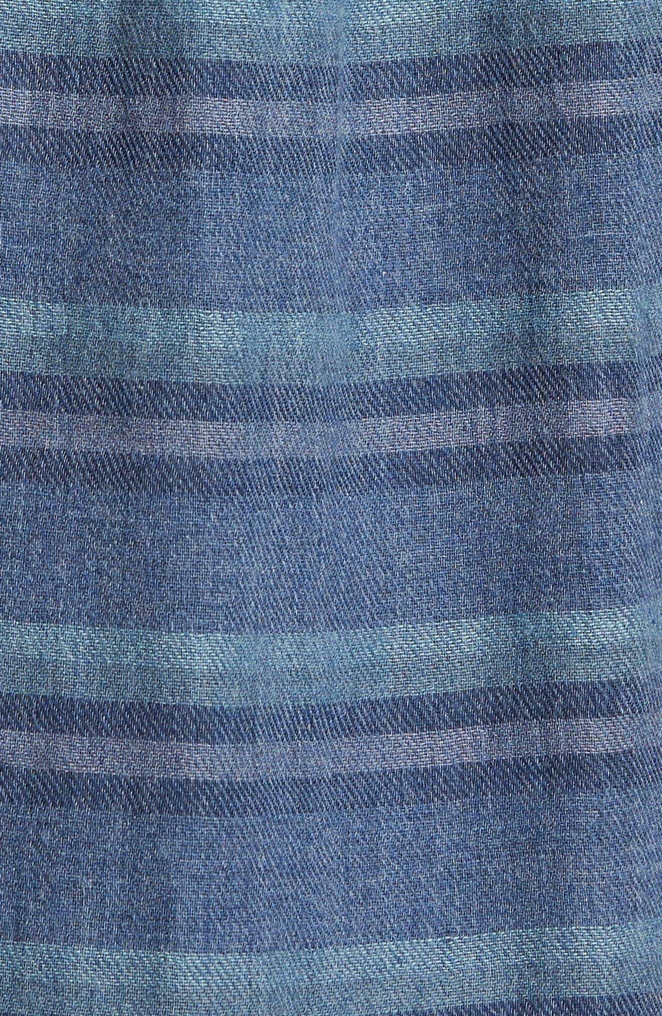 Harcourt Modern Fit Double Cloth Striped Sport Shirt,                             Alternate thumbnail 5, color,                             462