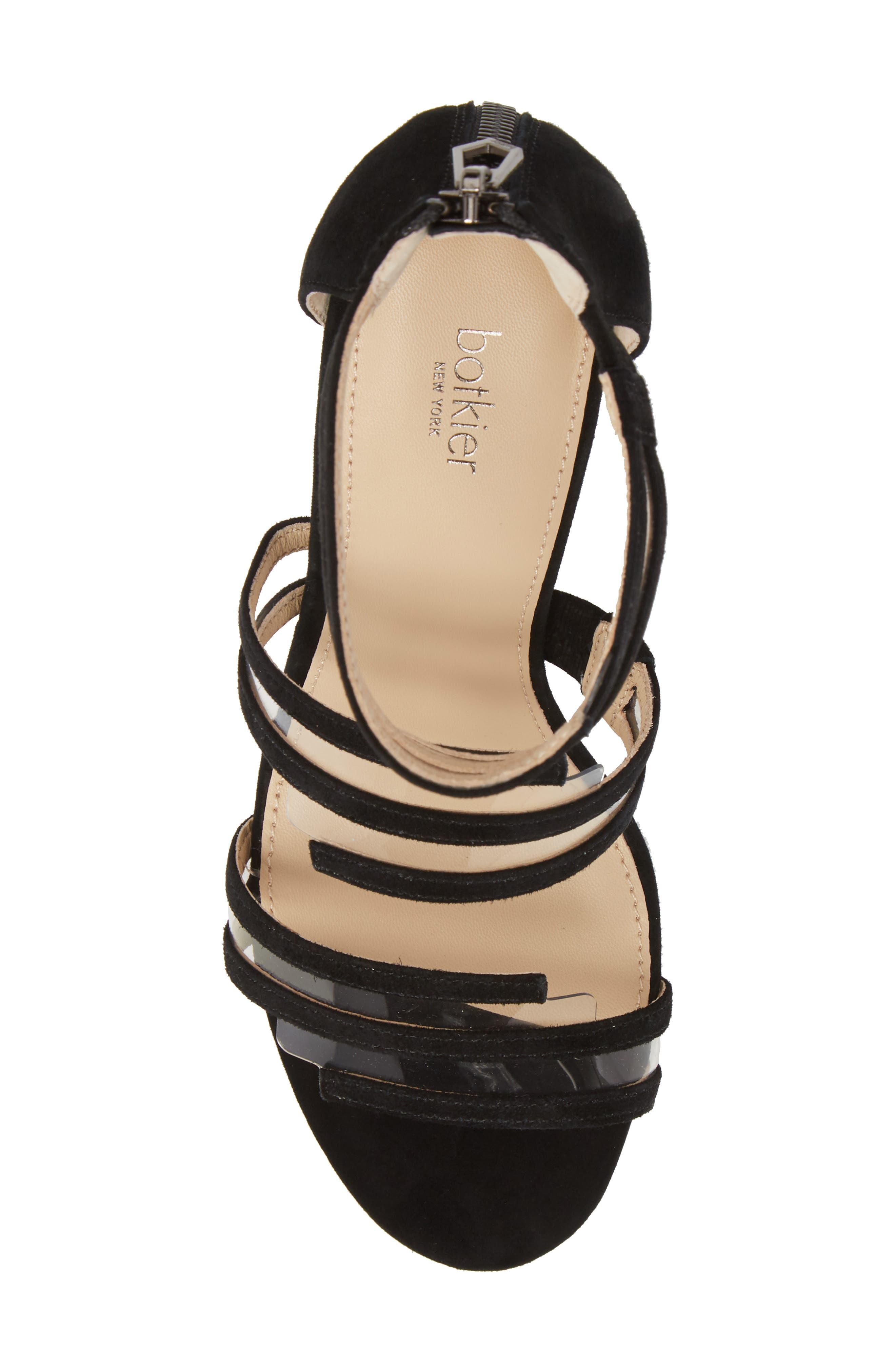 Grecia Sandal,                             Alternate thumbnail 5, color,                             BLACK SUEDE