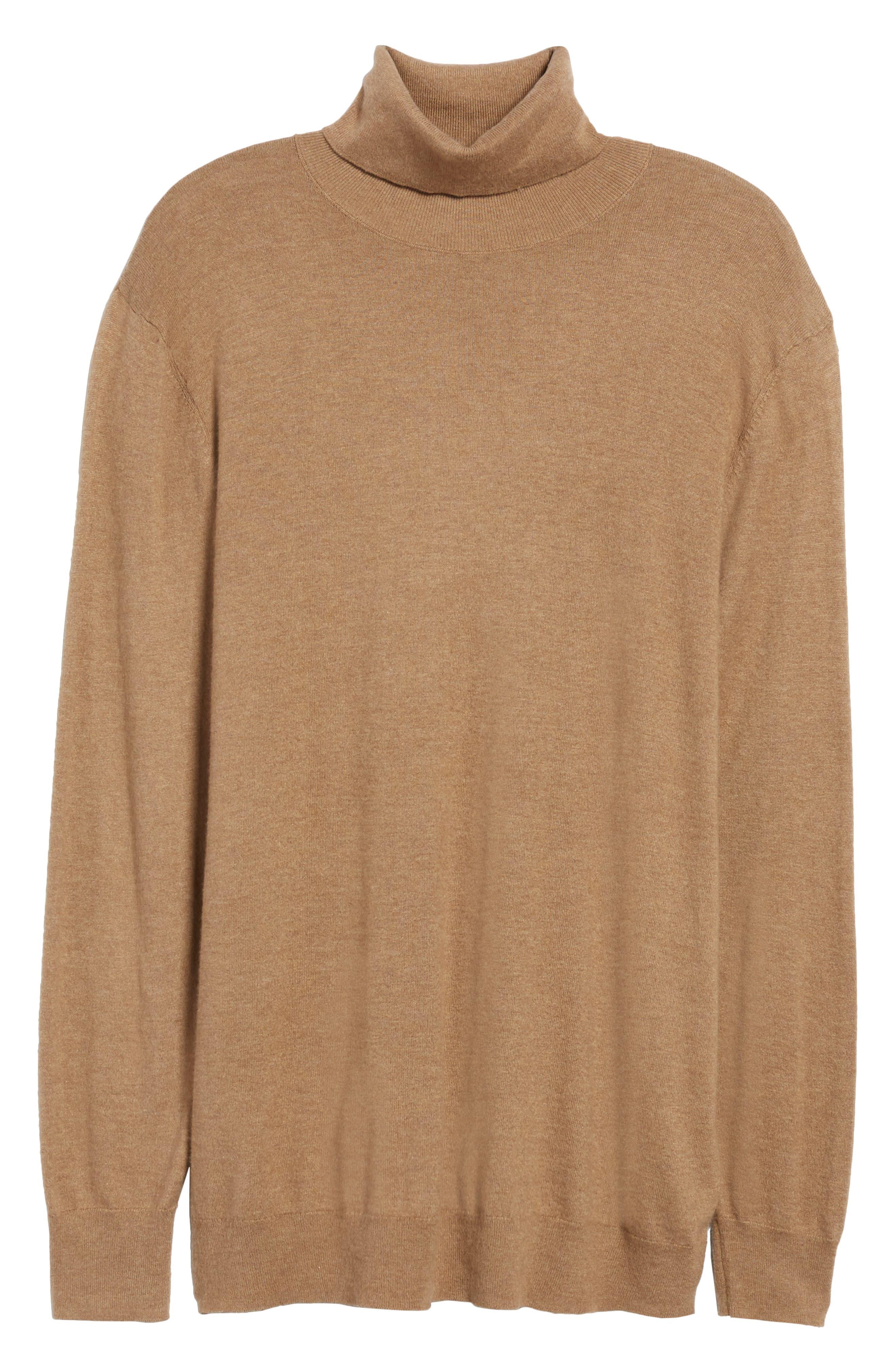 Boyfriend Turtleneck Sweater,                             Alternate thumbnail 18, color,