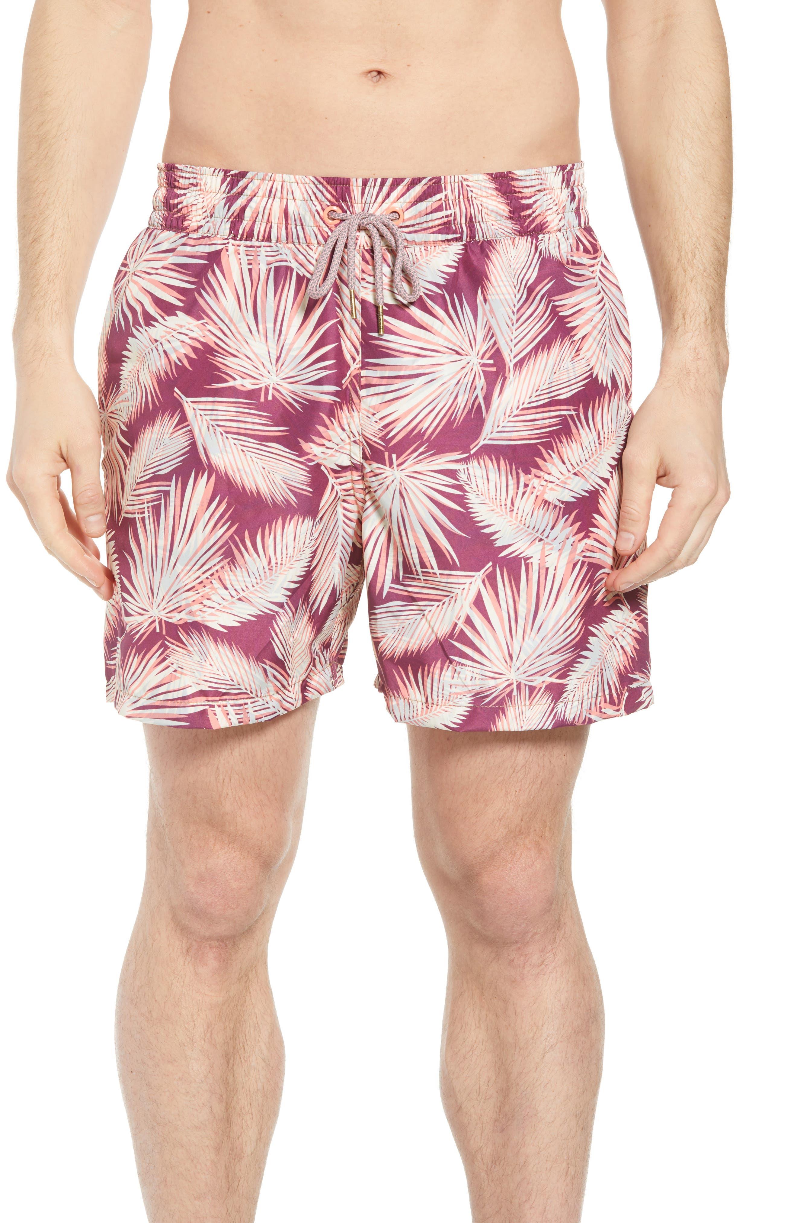 Bommie Reversible Swim Trunks,                         Main,                         color, RED