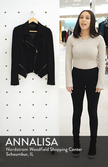 Zip Detail Fitted Ponte Jacket, sales video thumbnail