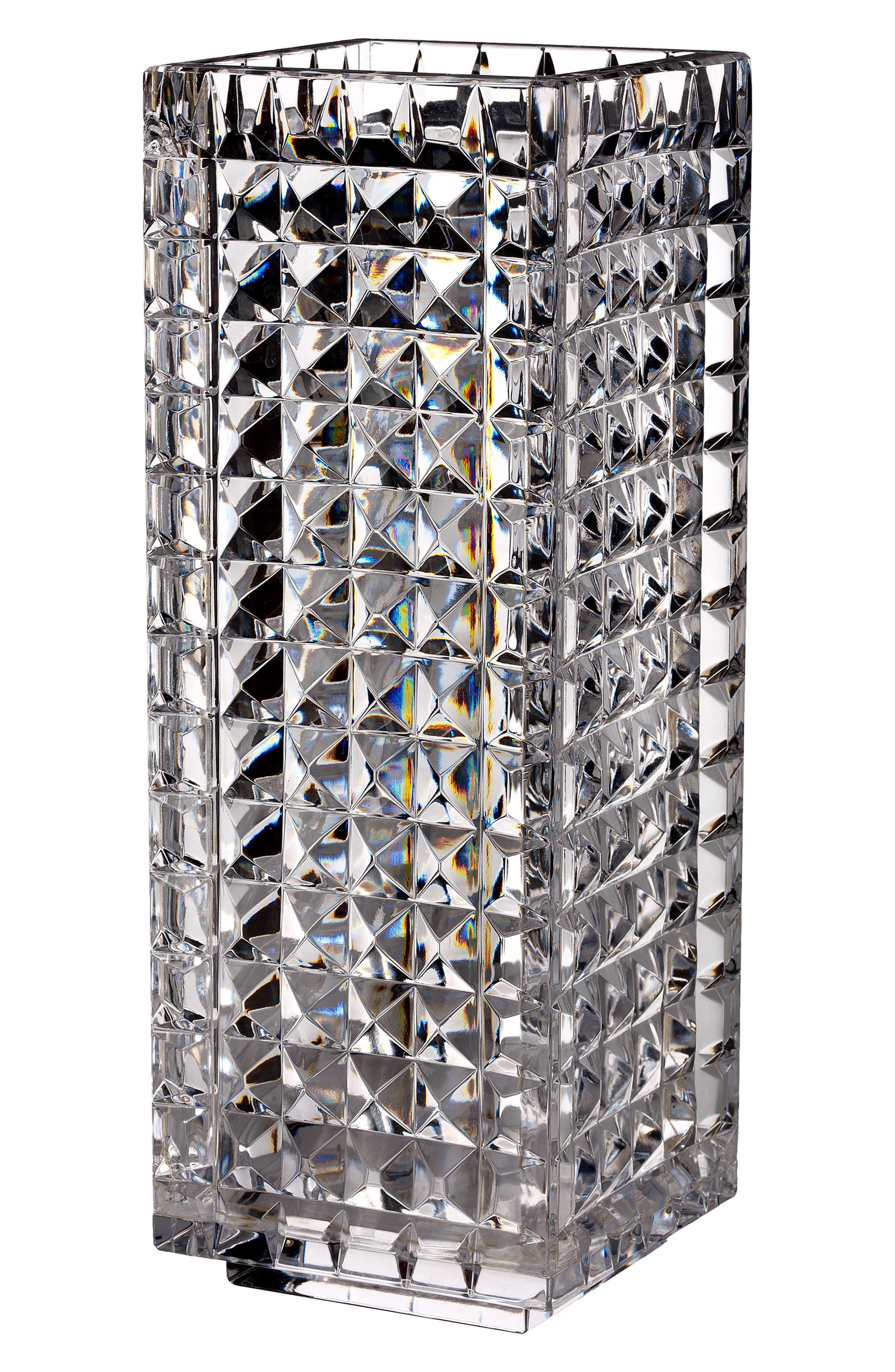 WATERFORD Fleurology by Jeff Leatham Kylie Lead Crystal Vase, Main, color, CRYSTAL