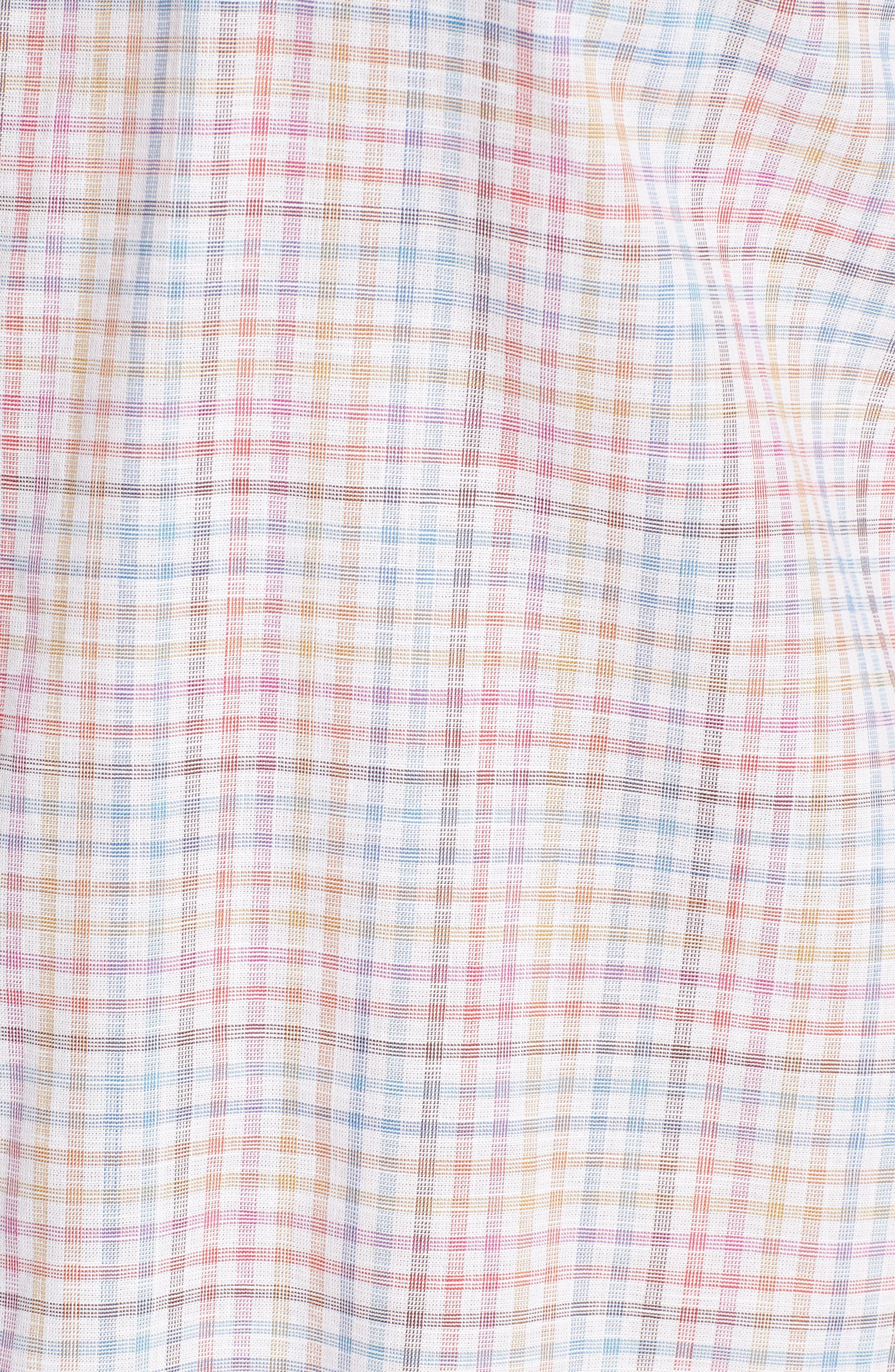 Jigwin Slim Fit Gingham Sport Shirt,                             Alternate thumbnail 5, color,                             100
