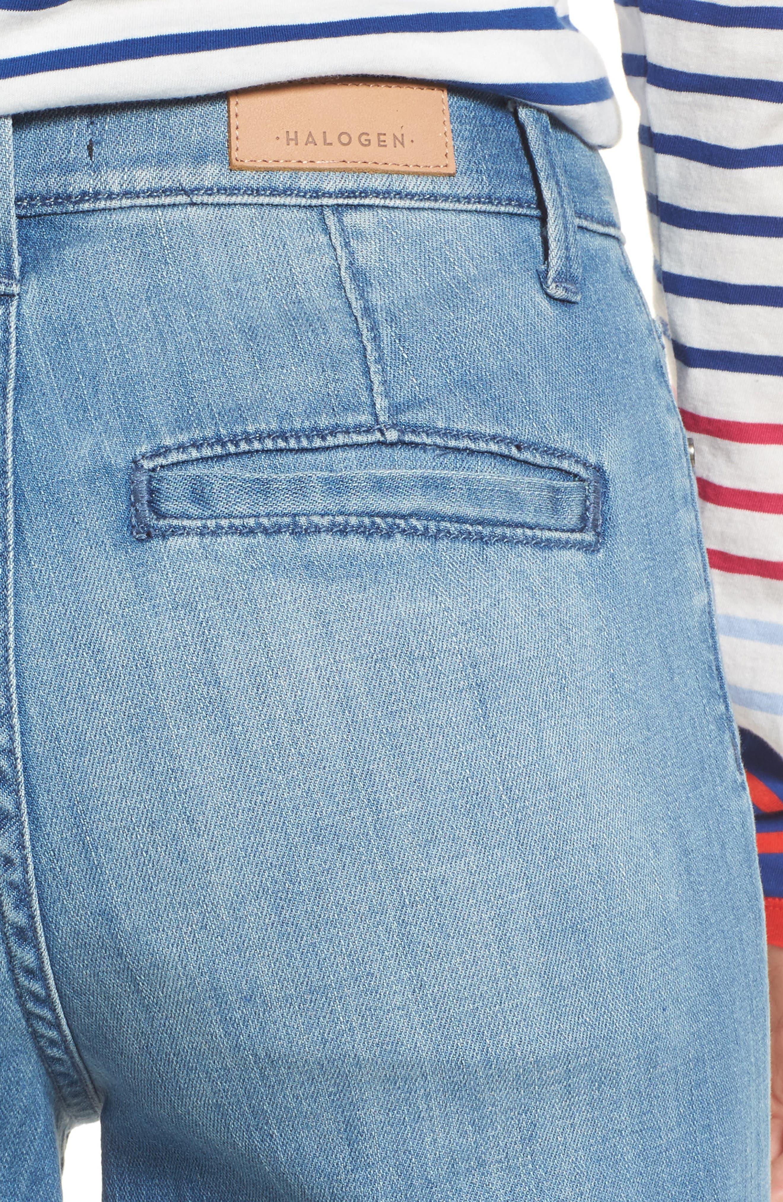 Wide Leg Cropped Jeans,                             Alternate thumbnail 4, color,