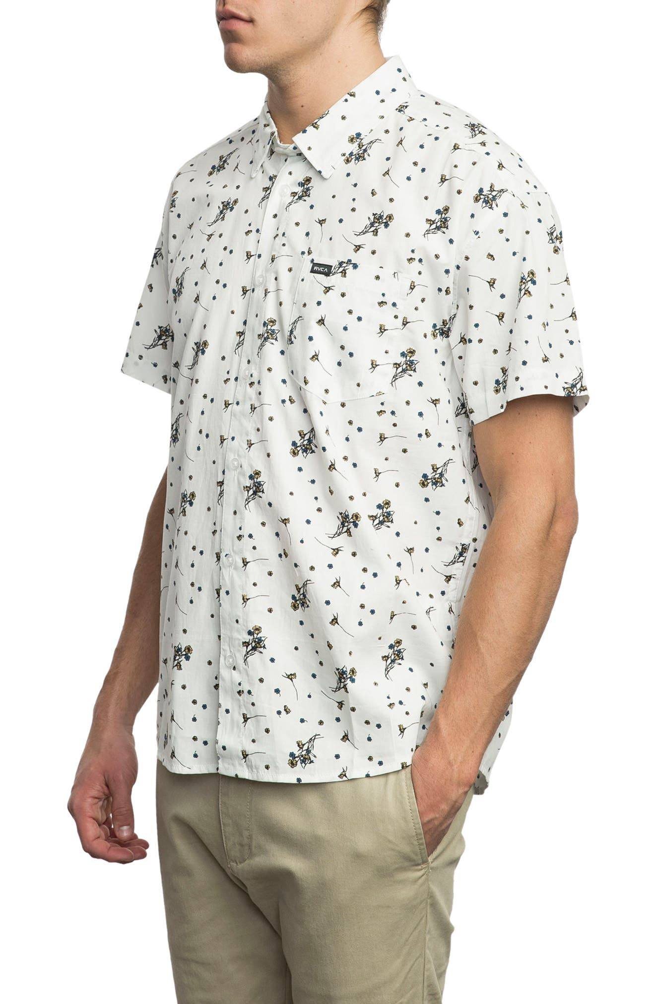 Print Woven Shirt,                             Alternate thumbnail 8, color,