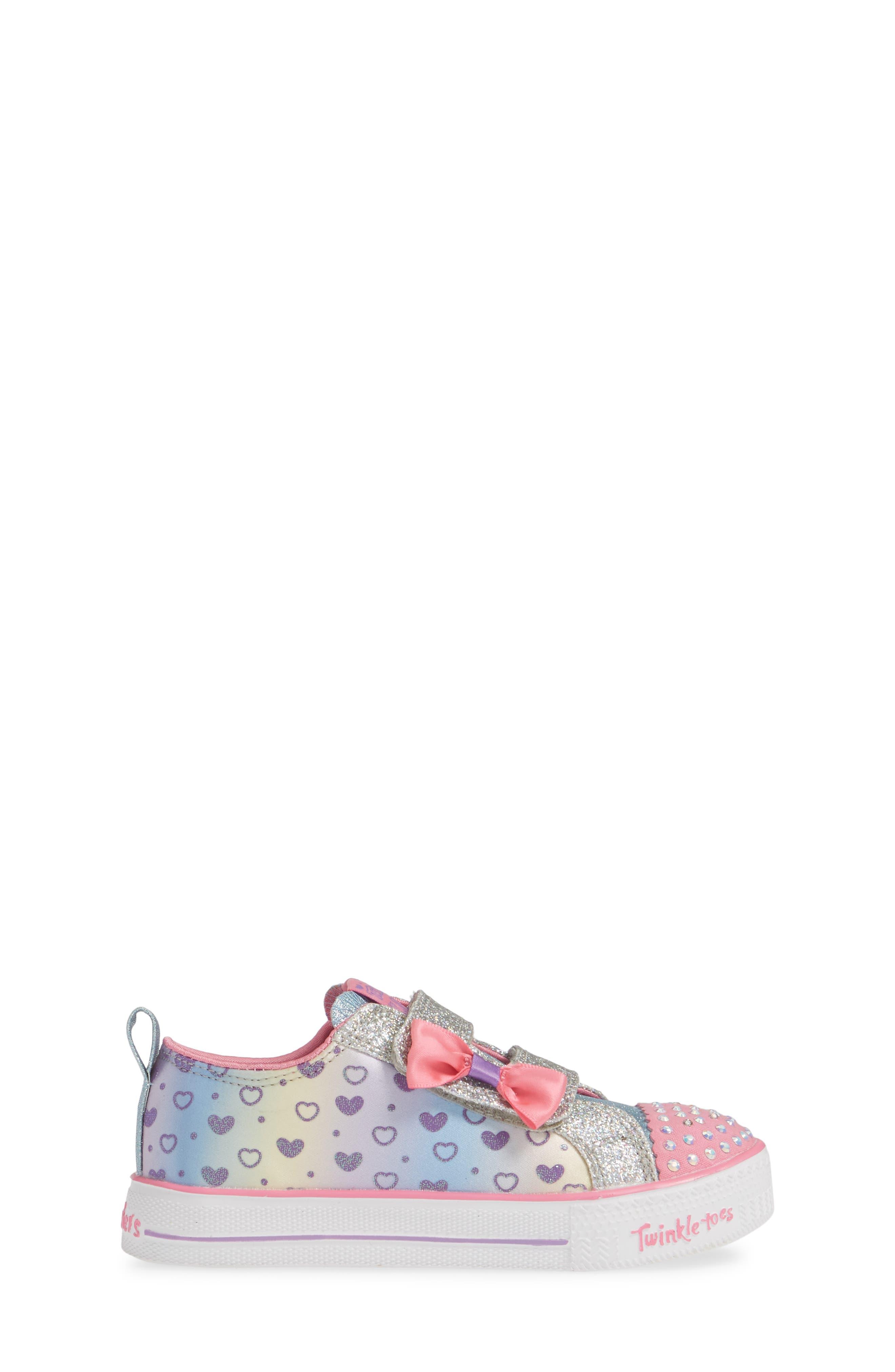 Shuffle Lite Glitter Sneaker,                             Alternate thumbnail 3, color,                             SILVER/ MULTI